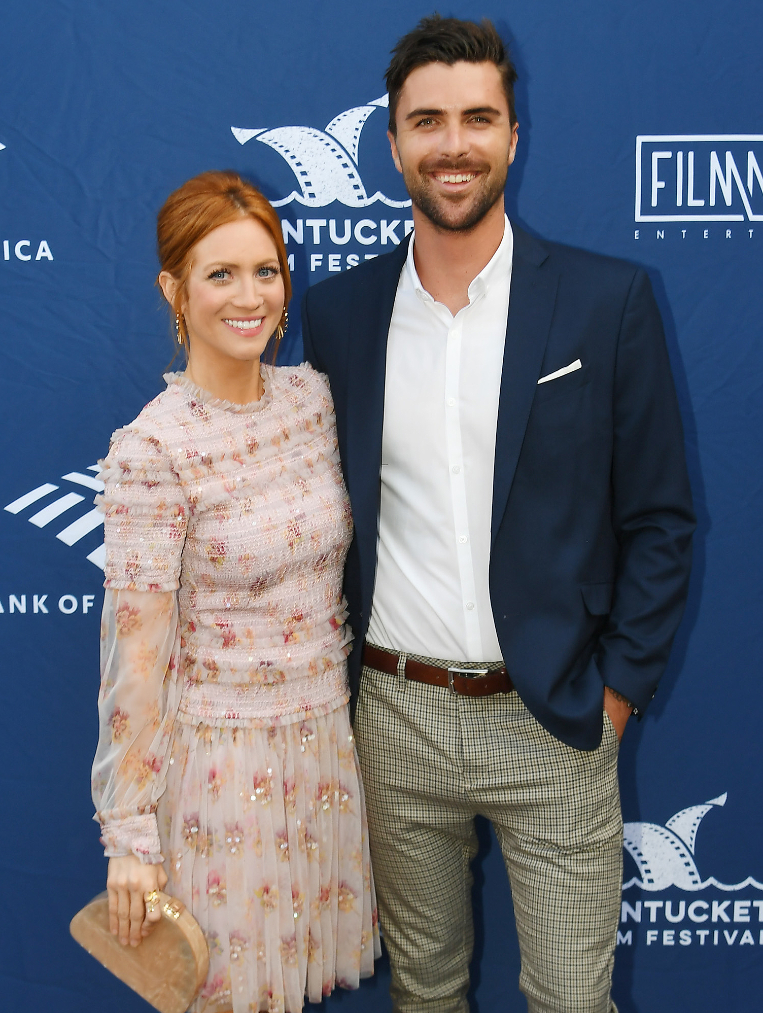 Brittany Snow and Tyler Stanaland
