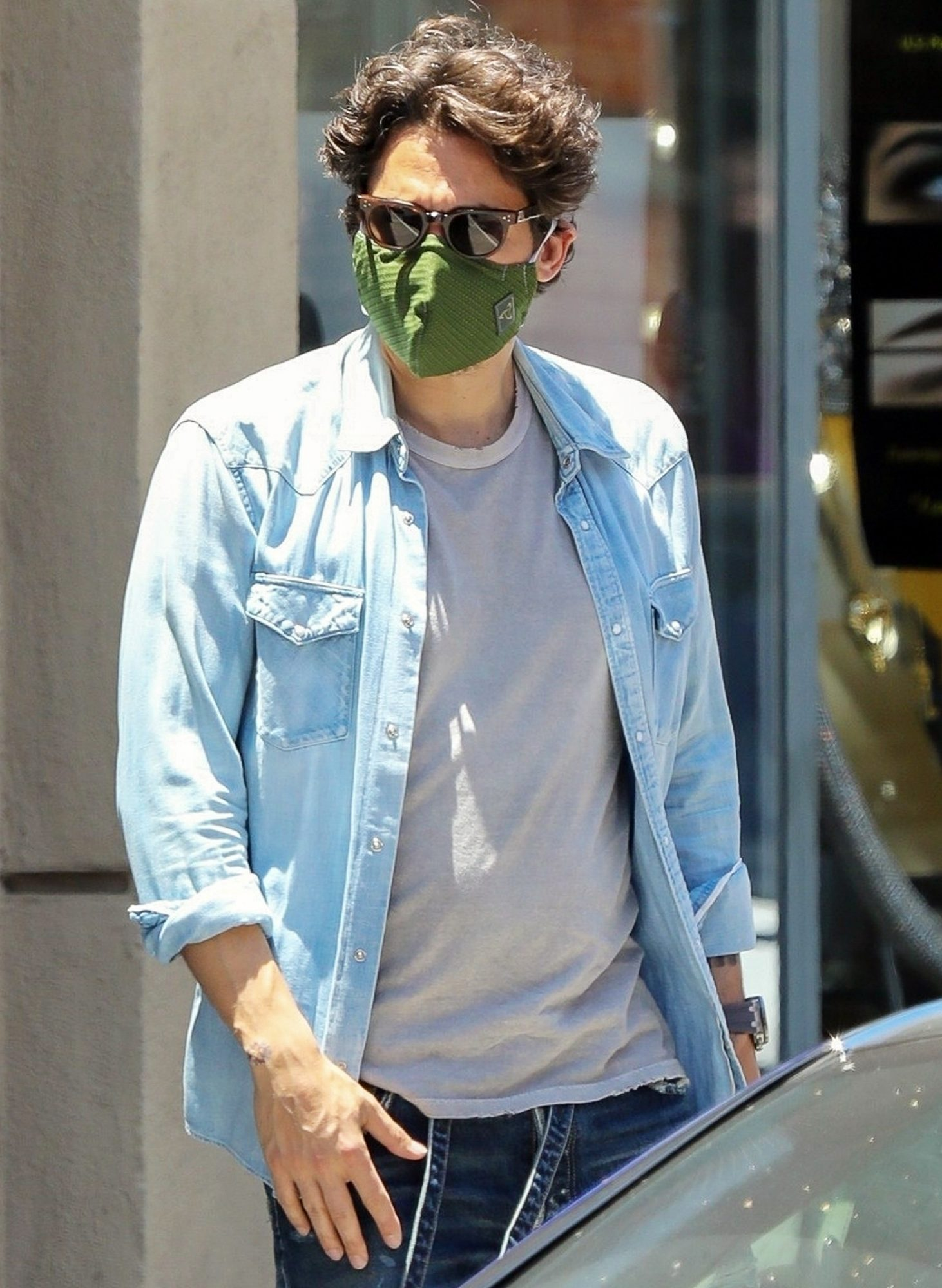 John Mayer is seen for the first time in months heading to an appointment in Beverly Hills