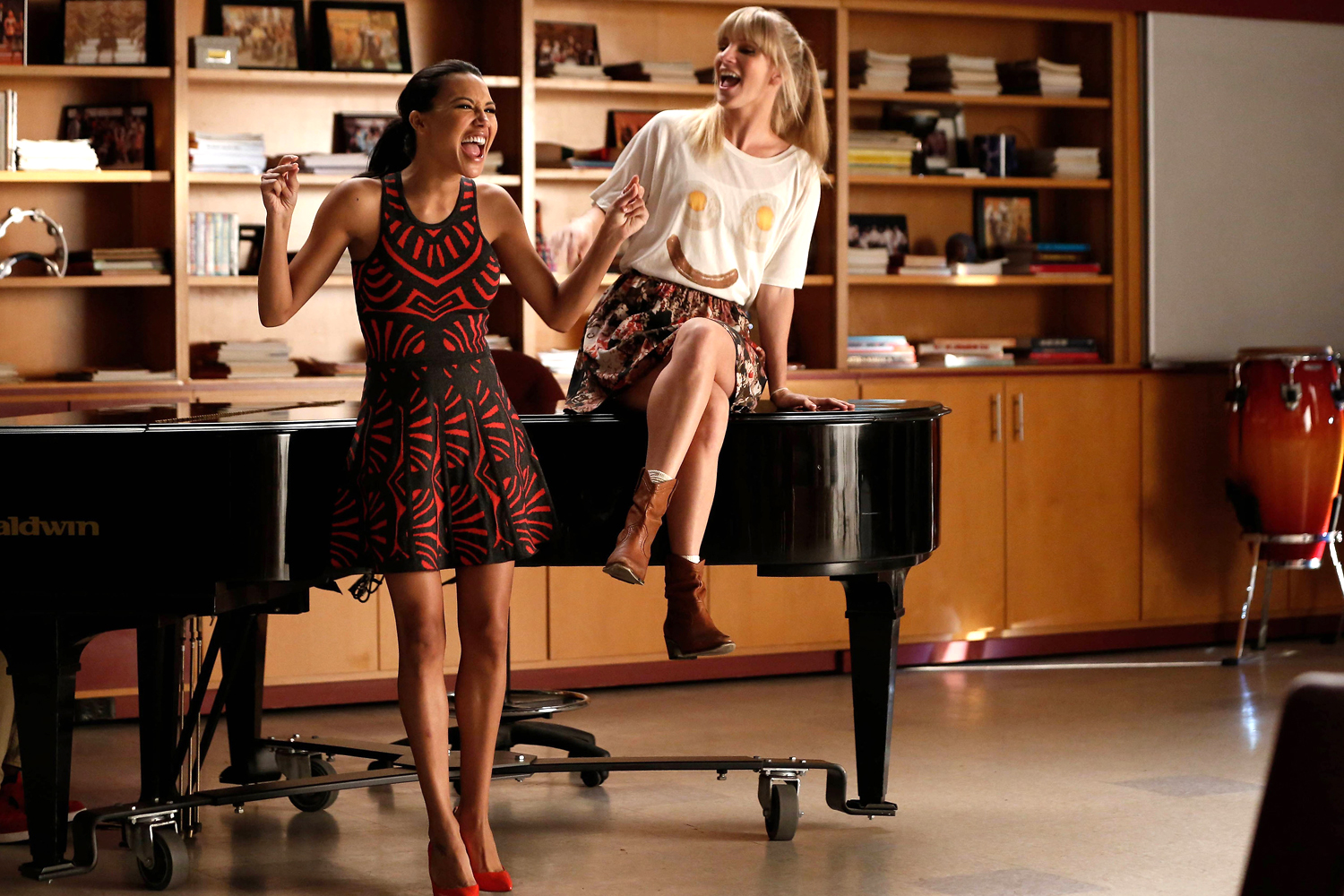 Naya Rivera; Heather Morris