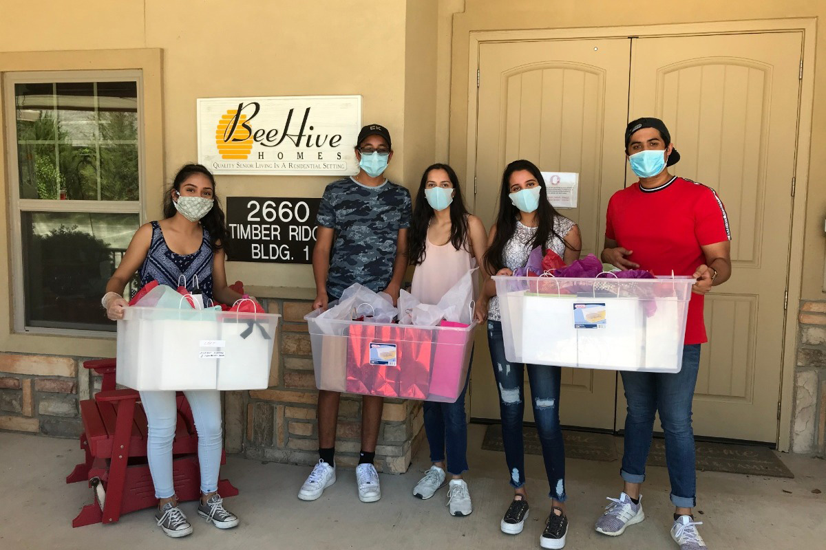 Collin County Students Provide COVID-19 Care Packages for North Texas Seniors