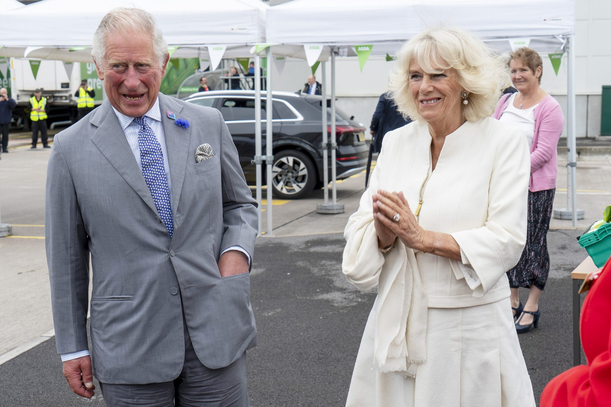 Prince Charles, President of Business in the Community, visits an Asda Distribution Centre to thank staff who have kept the country's vital food supplies moving throughout the coronavirus pandemic. Prince Charles and Camilla Duchess of Cornwall visit to Avonmouth