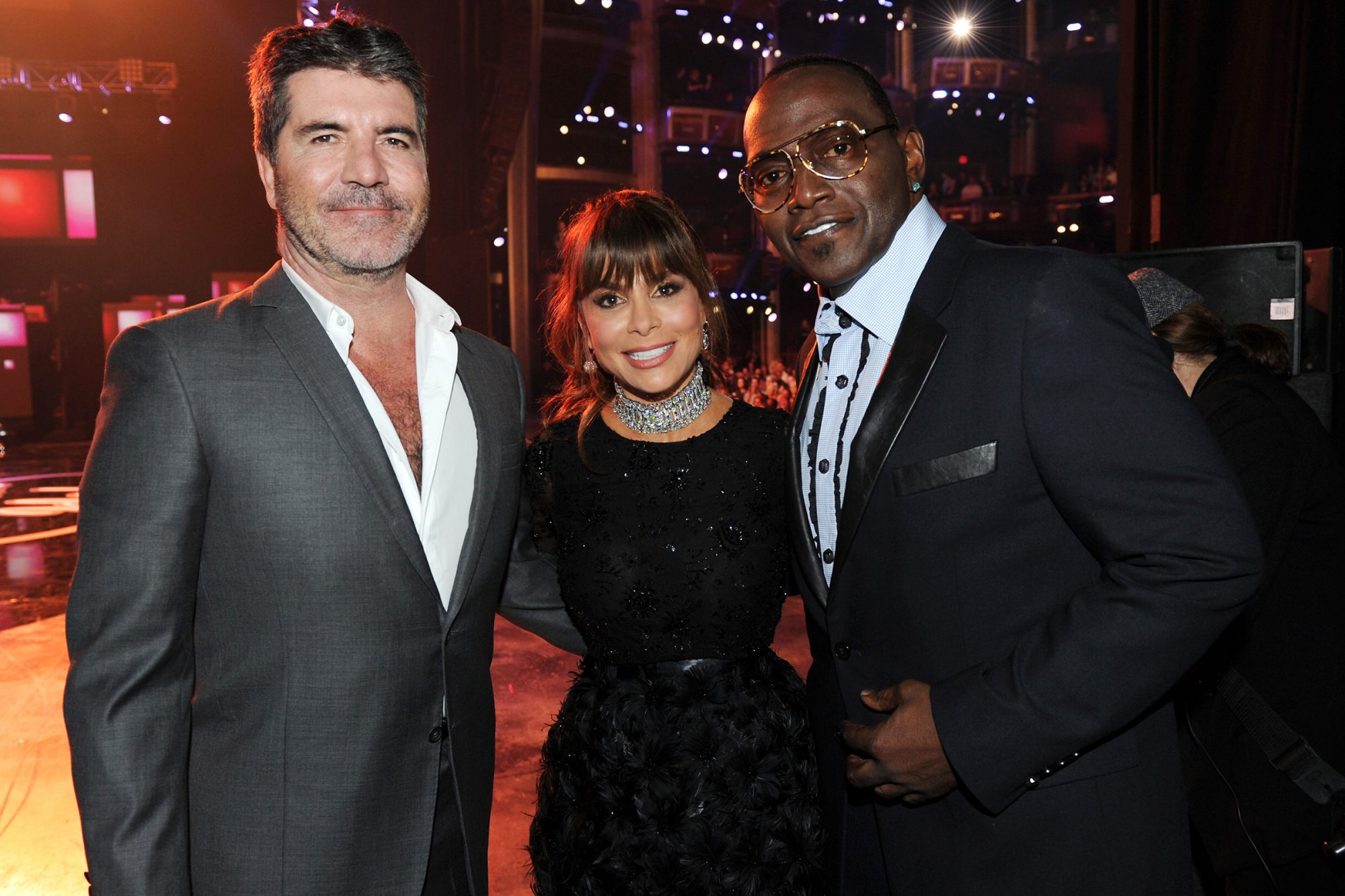 Simon Cowell, Paula Abdul and Randy Jackson