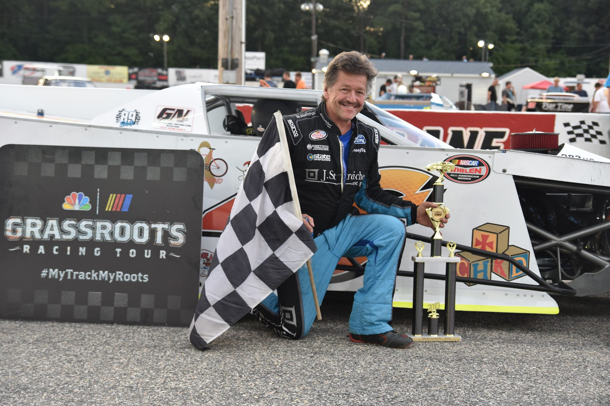 Shawn Balluzzo at Larry King Law's Langley Speedway
