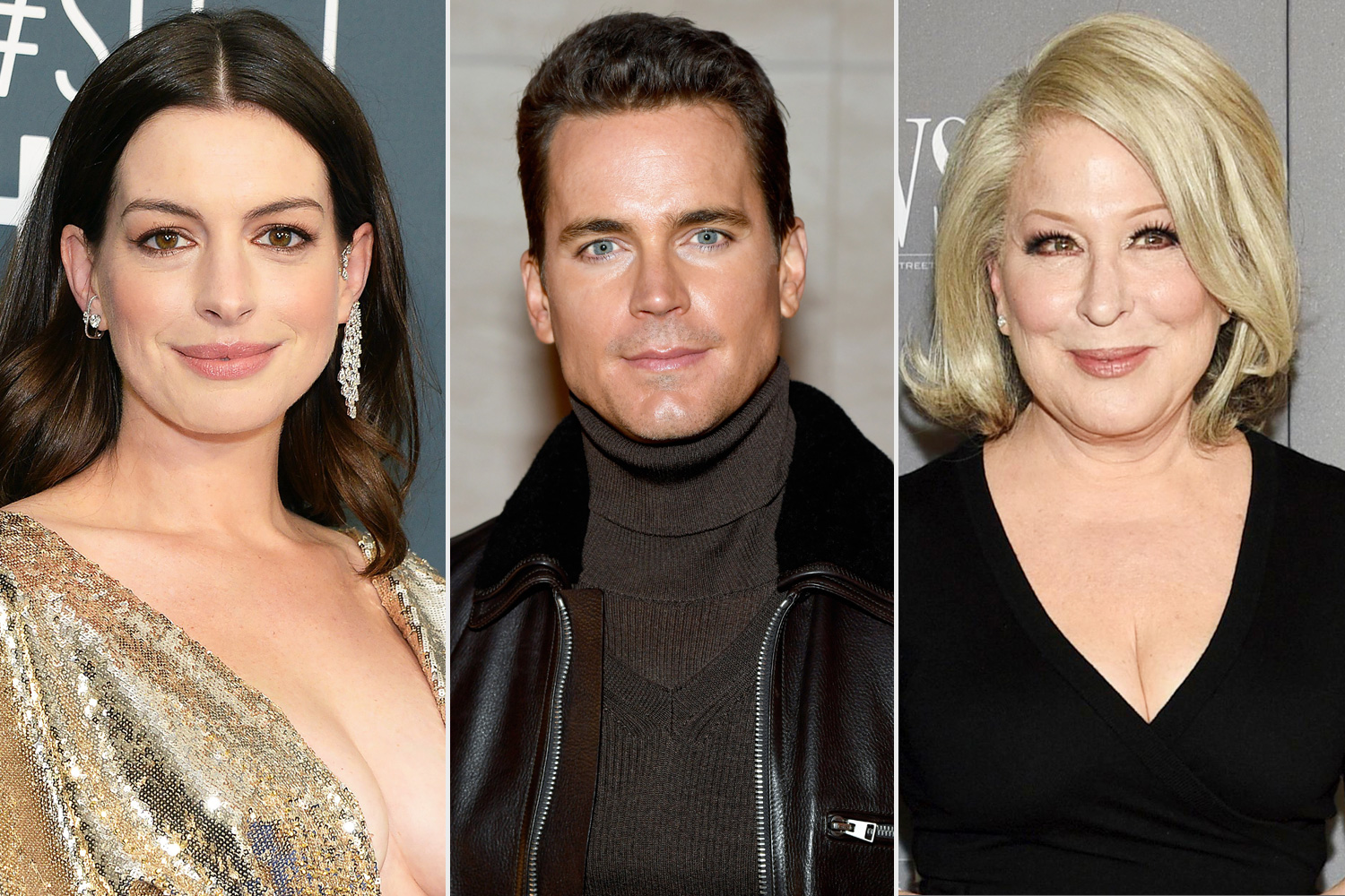 Anne Hathaway, Matt Bomer and Bette Midler doing the AIDS Walks: Live From Home benefit show