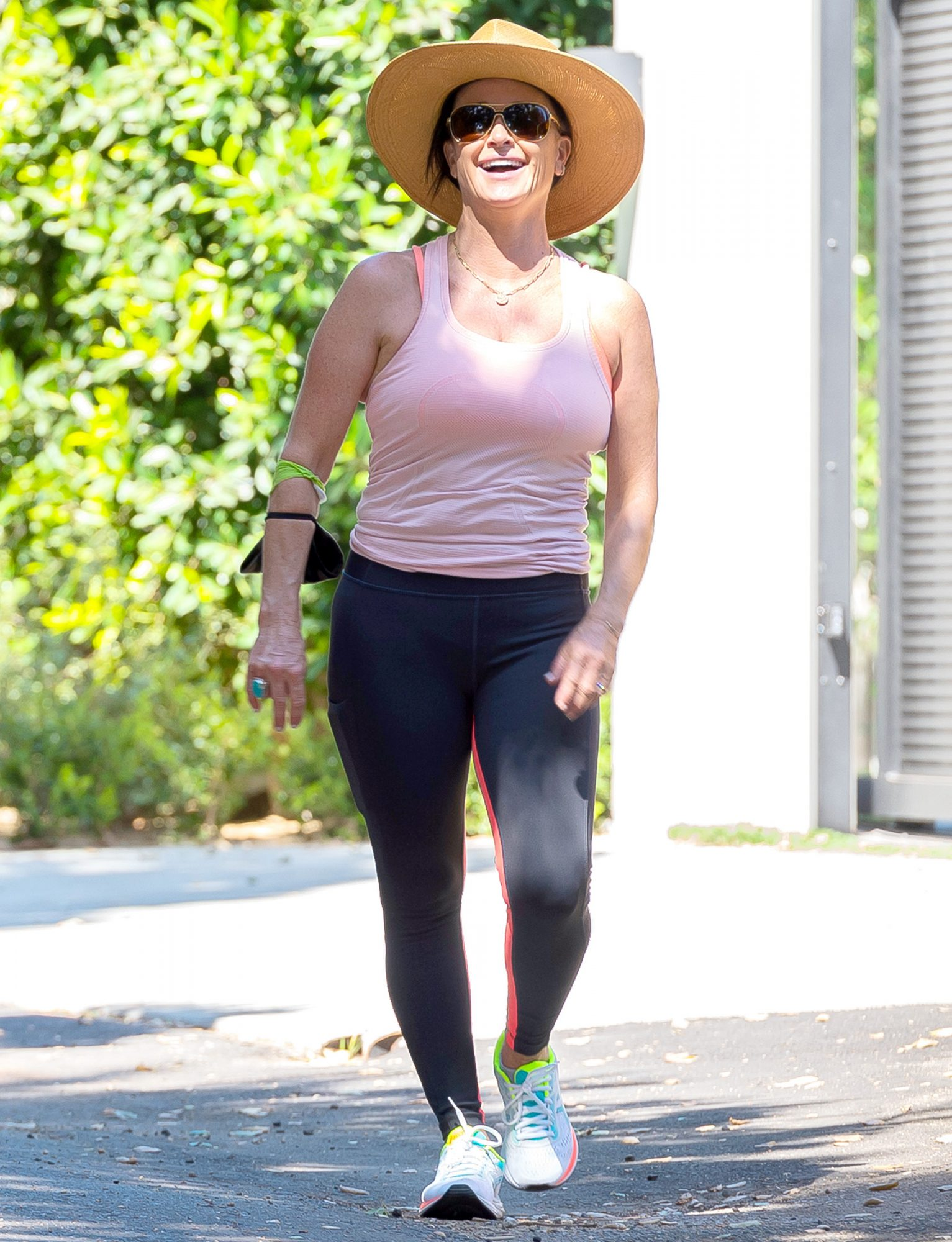 Kyle Richards is Pictured Taking a Walk Around Her Neighborhood n Los Angeles.