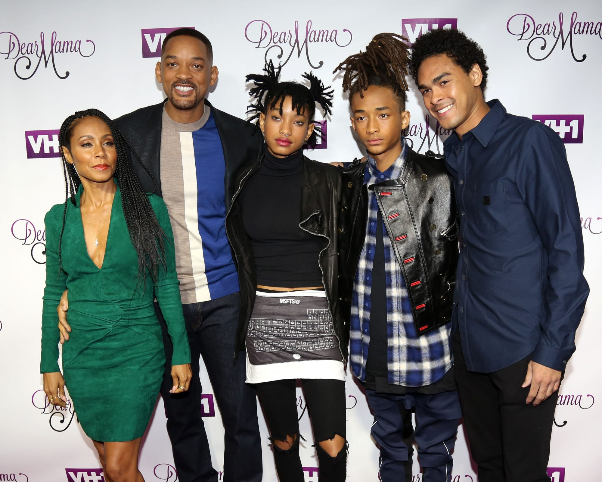 will and jada pinket smith with their children