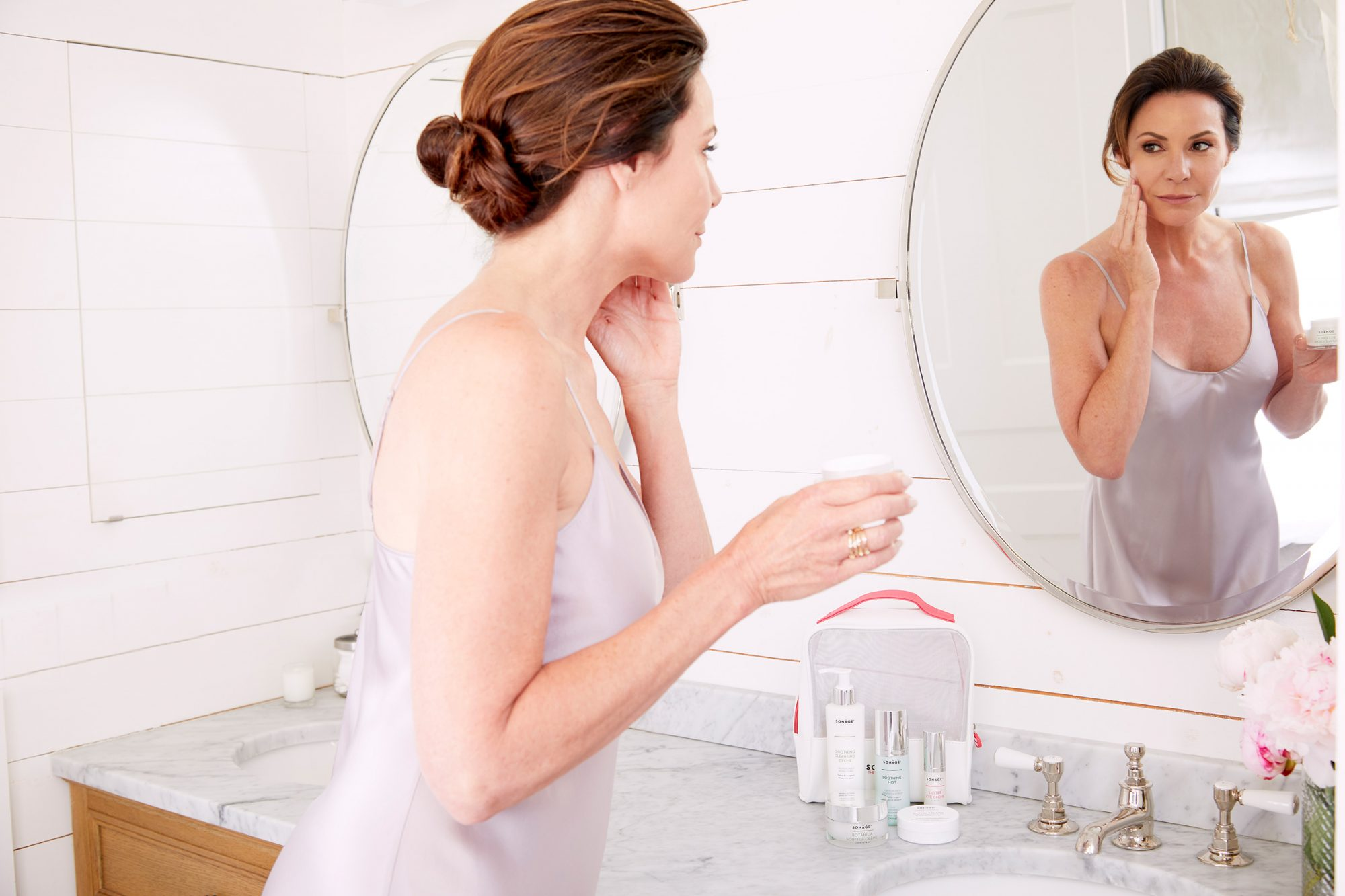 LuAnn de Lesseps curated a skincare collection and filmed a video using the products for People TV