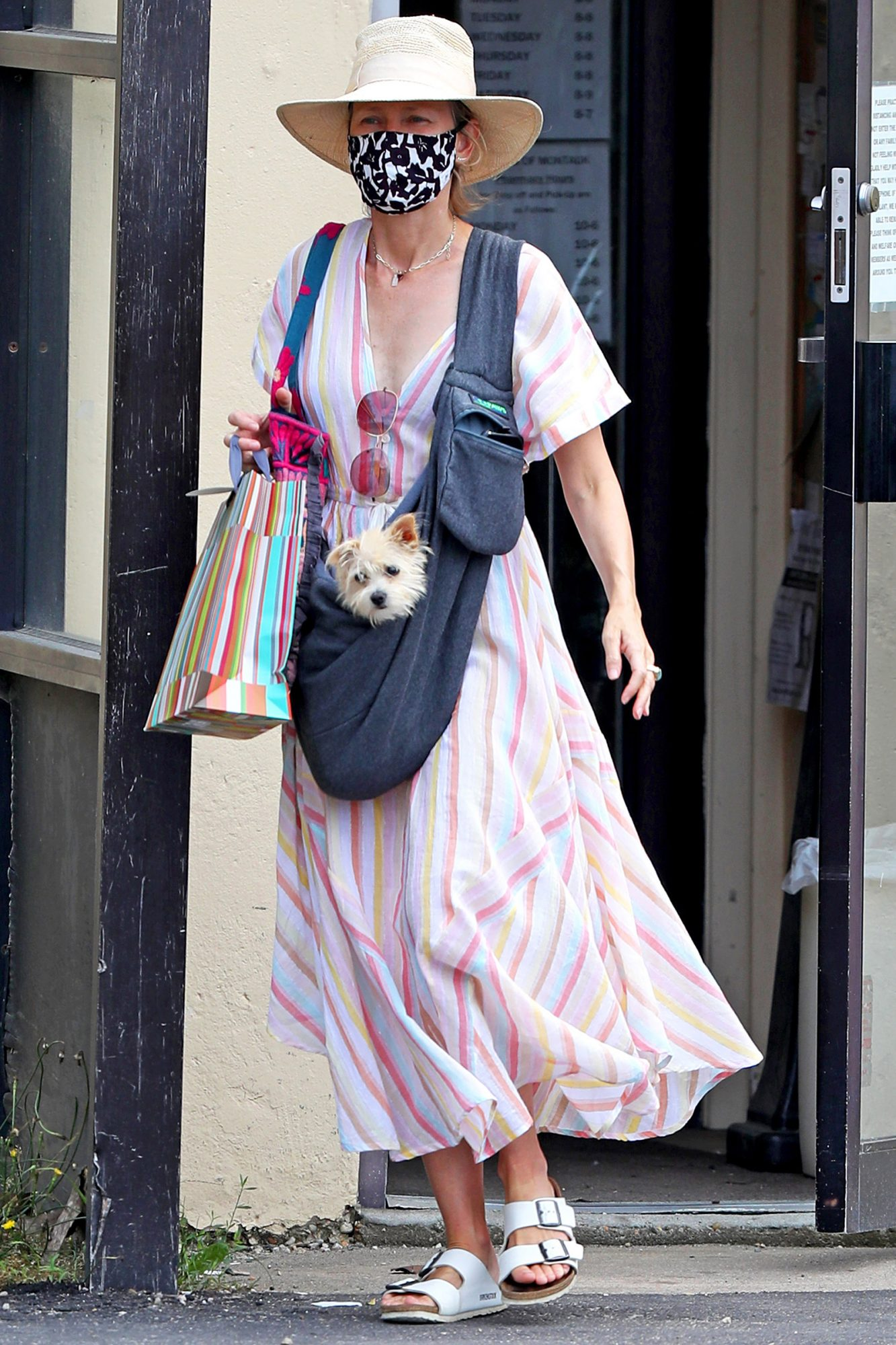 Naomi Watts Heads Out With Her New Rescue Pup, Izzy in the Hamptons.
