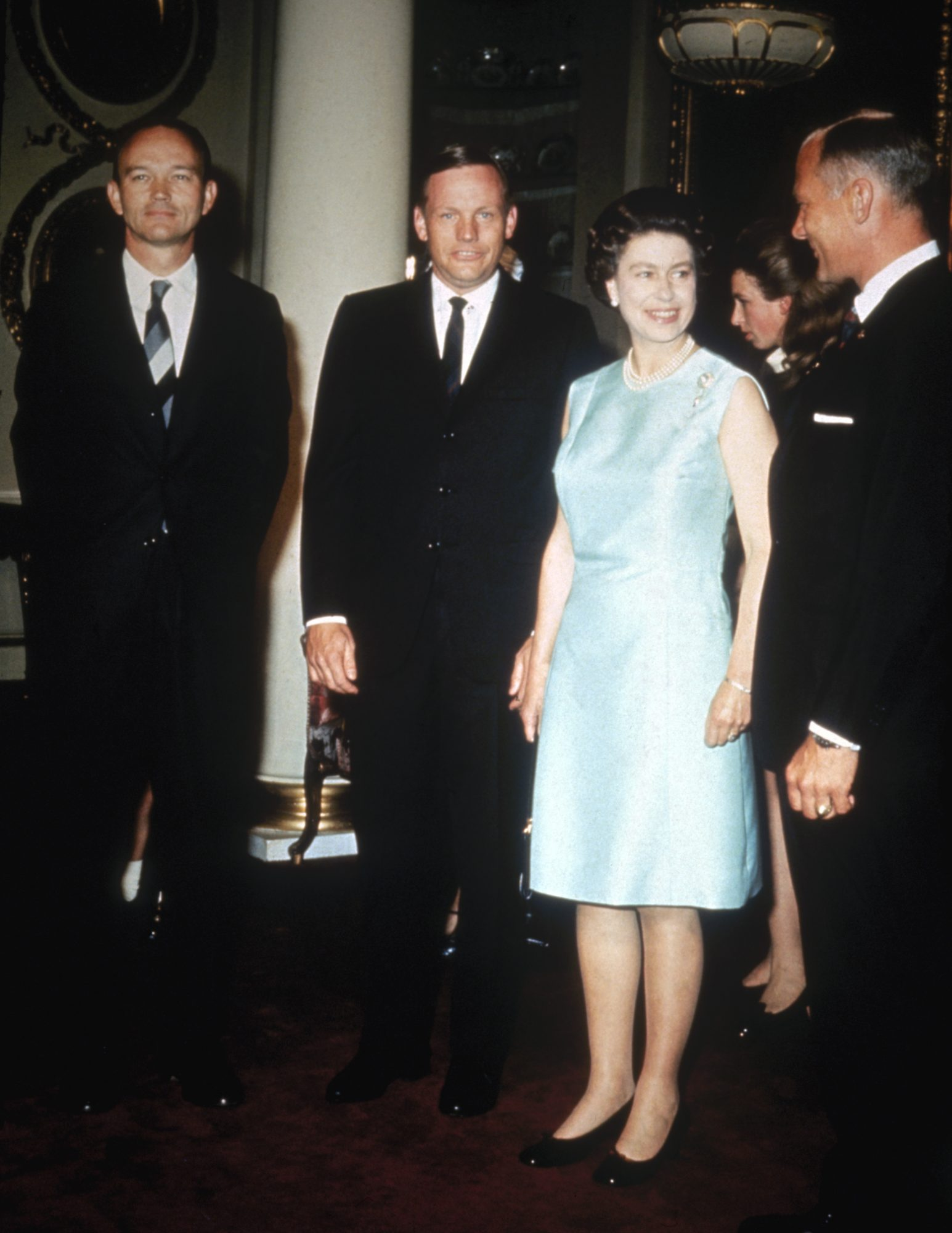 Queen Elizabeth II and Neil Armstrong
