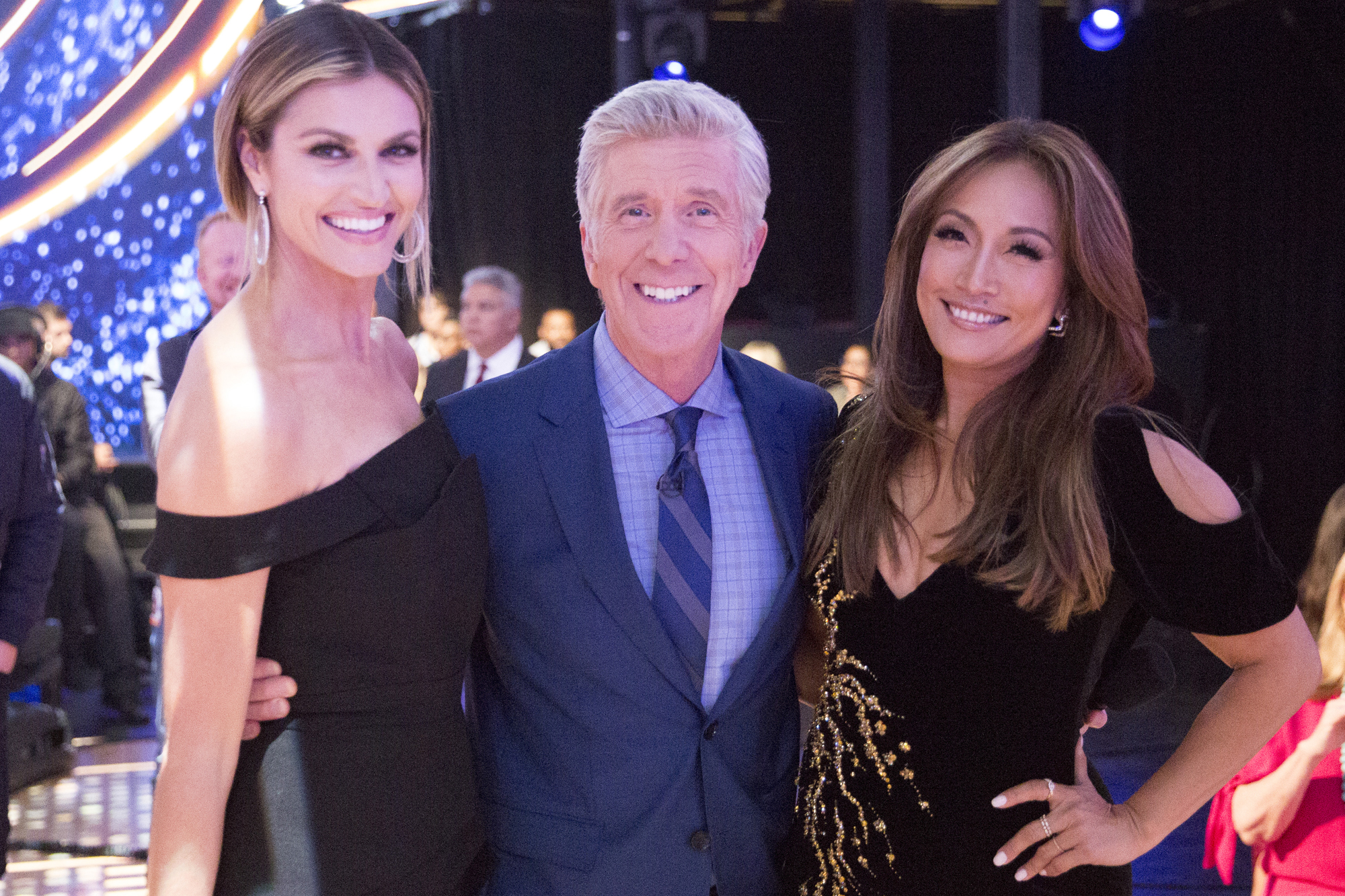 ERIN ANDREWS, TOM BERGERON, CARRIE ANN INABA