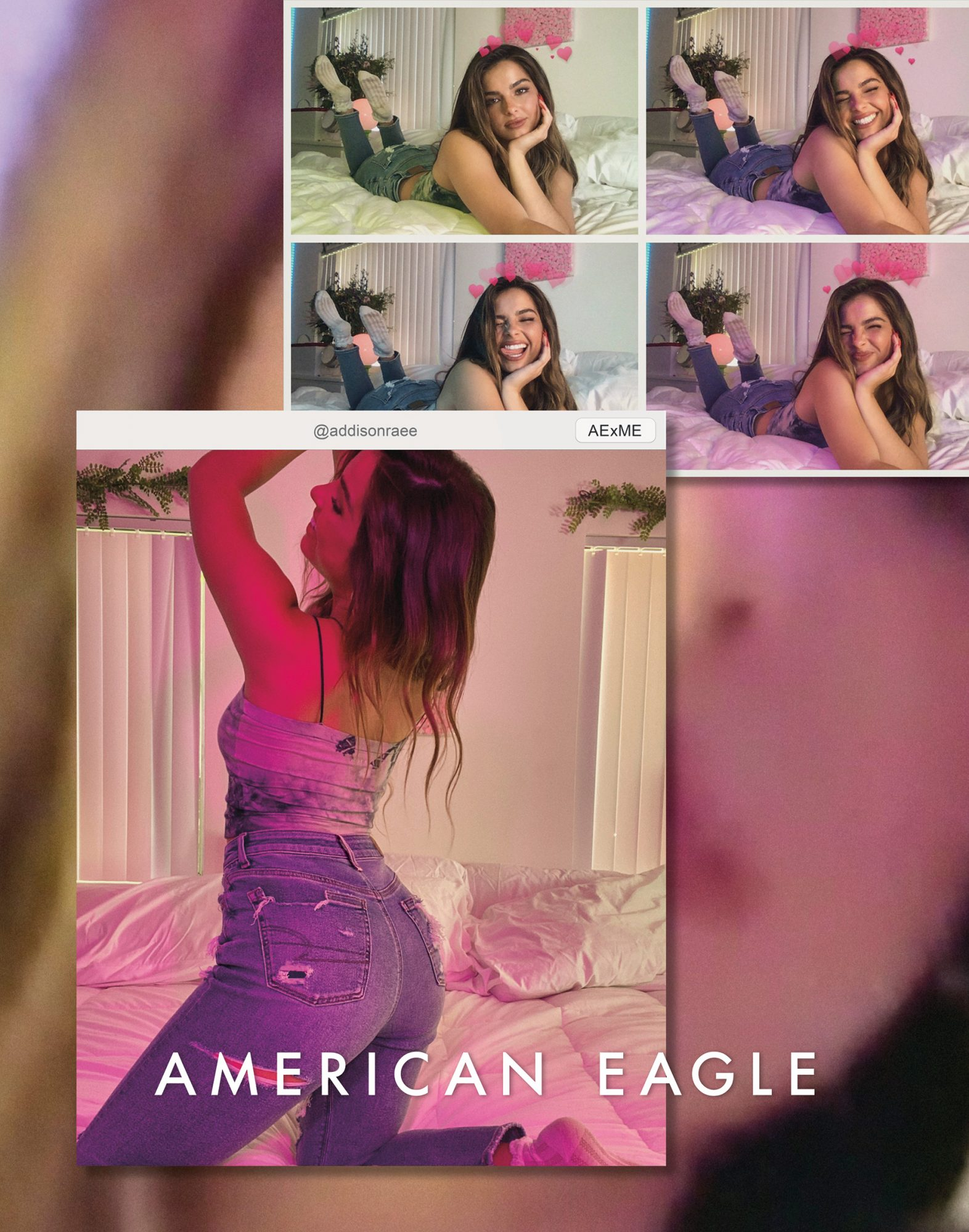Addison Rae for American Eagle