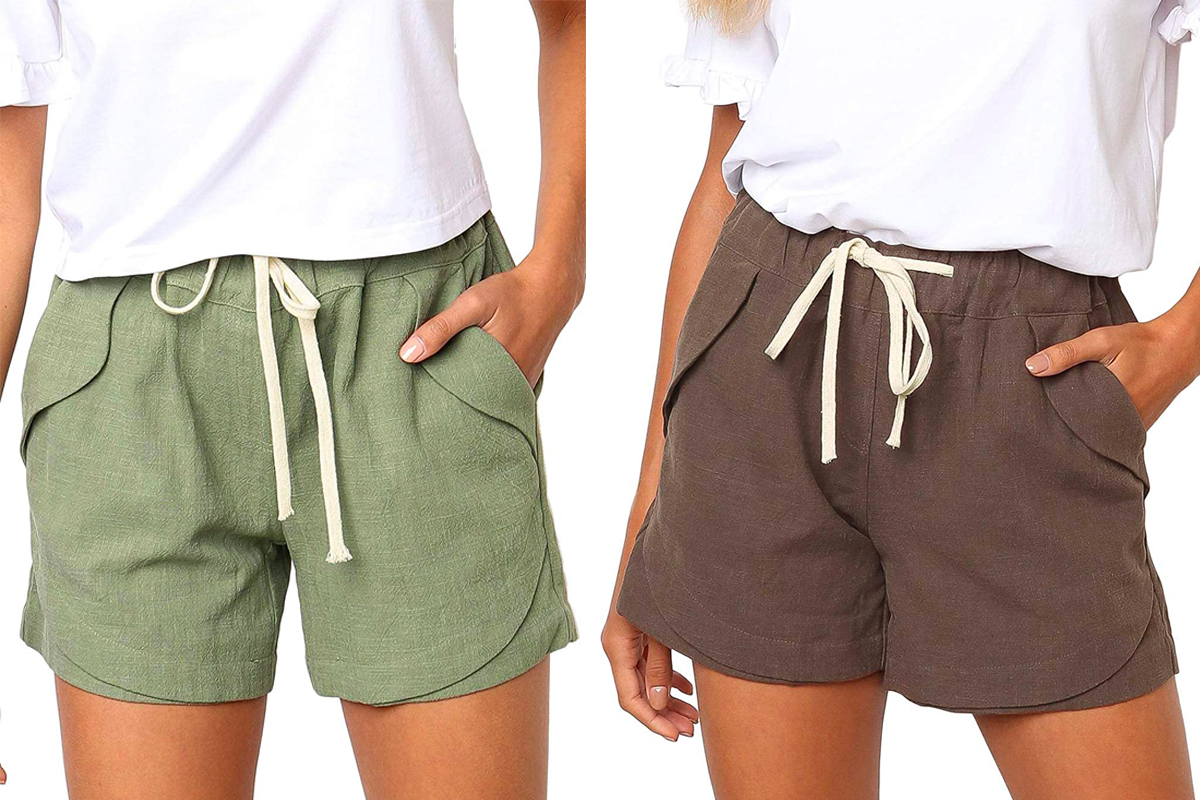 Casual Shorts Plain Solid Color