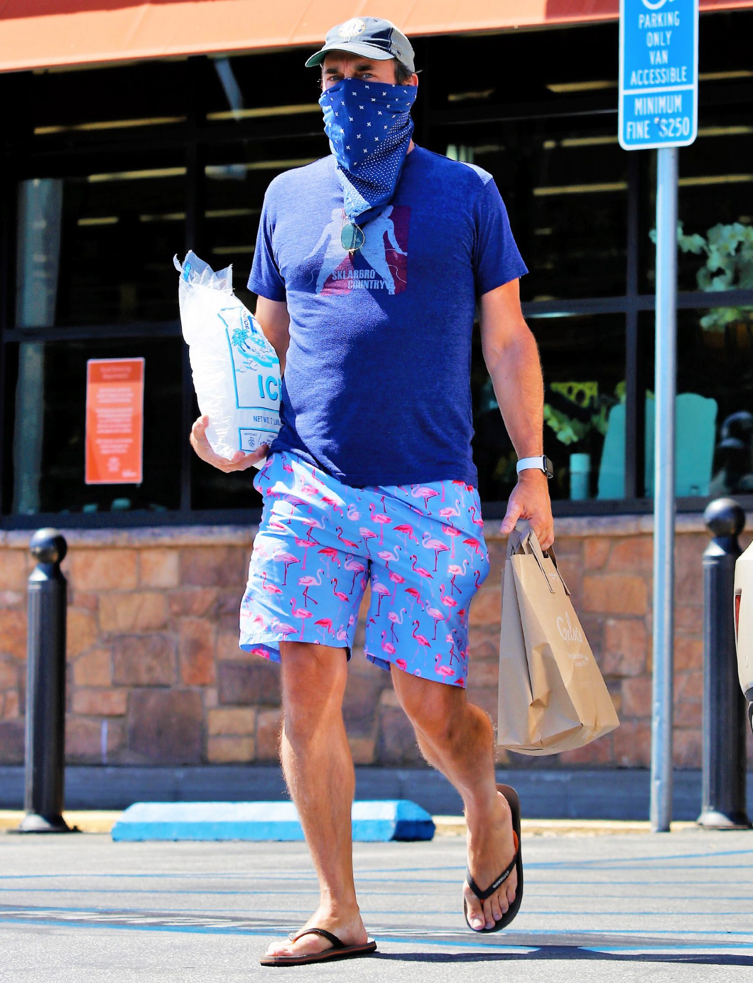 Jon Hamm Looks Ready For a BBQ as He Stops For Some Supplies in Los Angeles