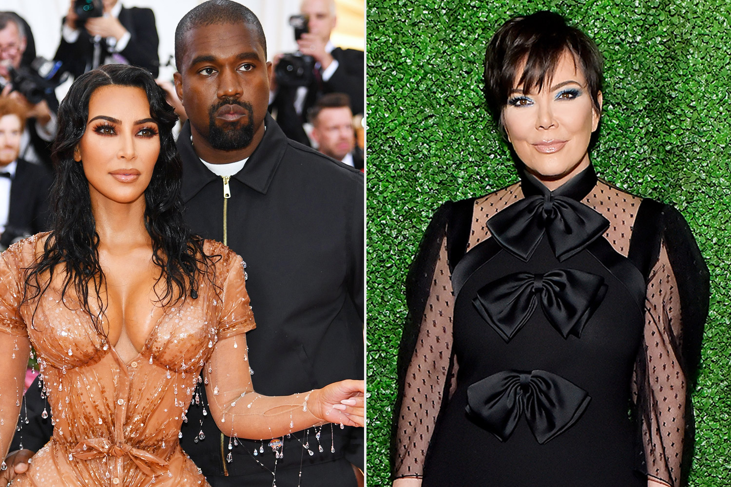 Kim and Kanye split with Kris Jenner