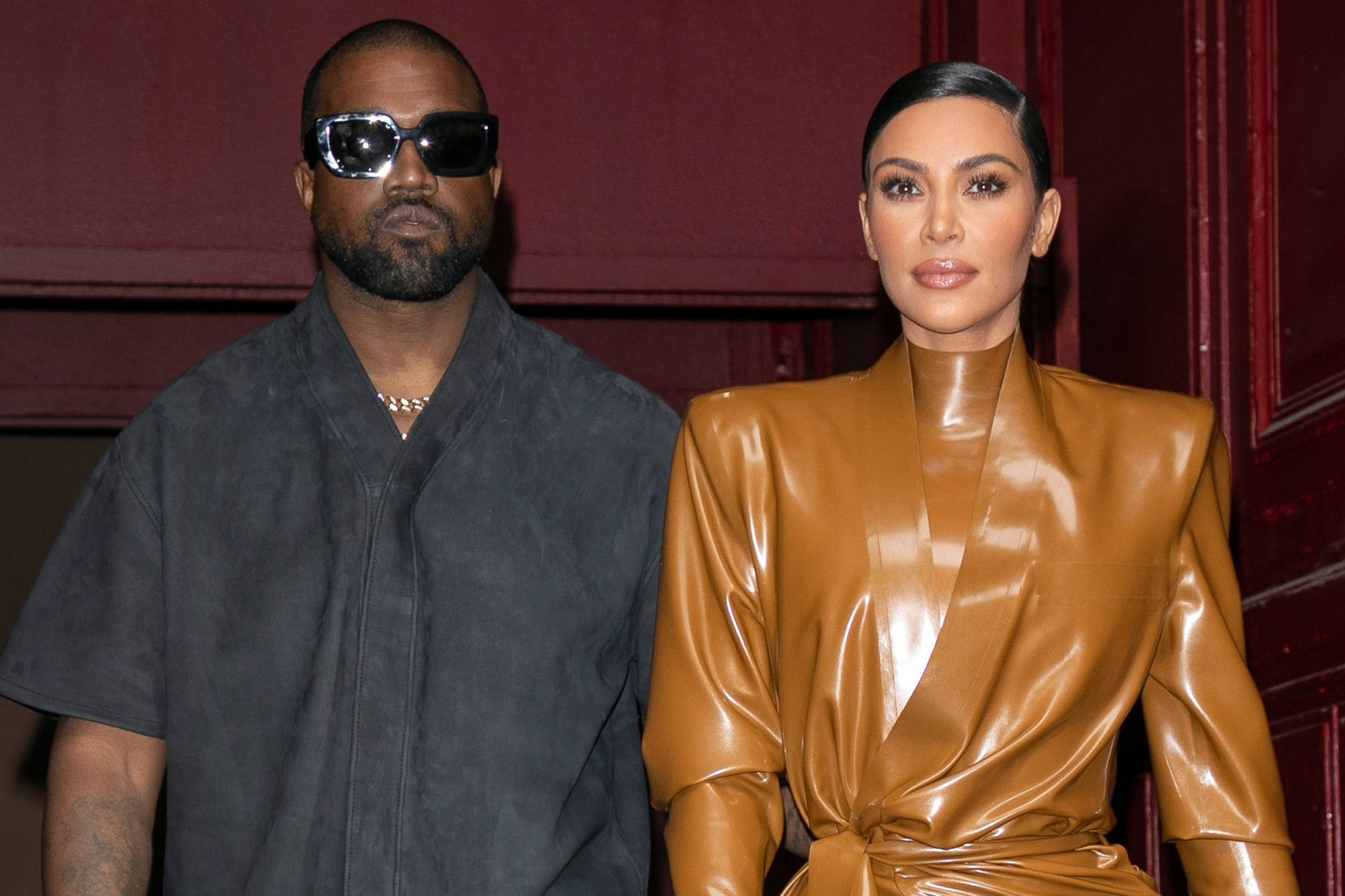 Kanye West & Kim Kardashian Leave K. West's Sunday Service At Theatre Des Bouffes Du Nord