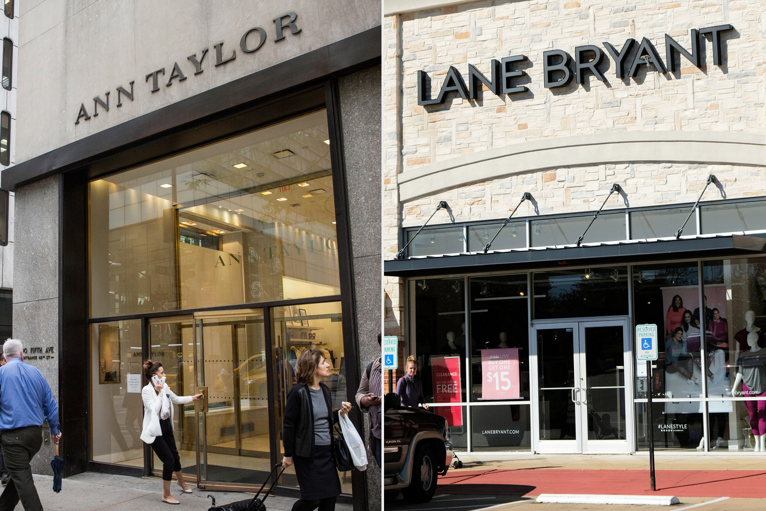 Ann Taylor and Lane Bryant store bankruptcies