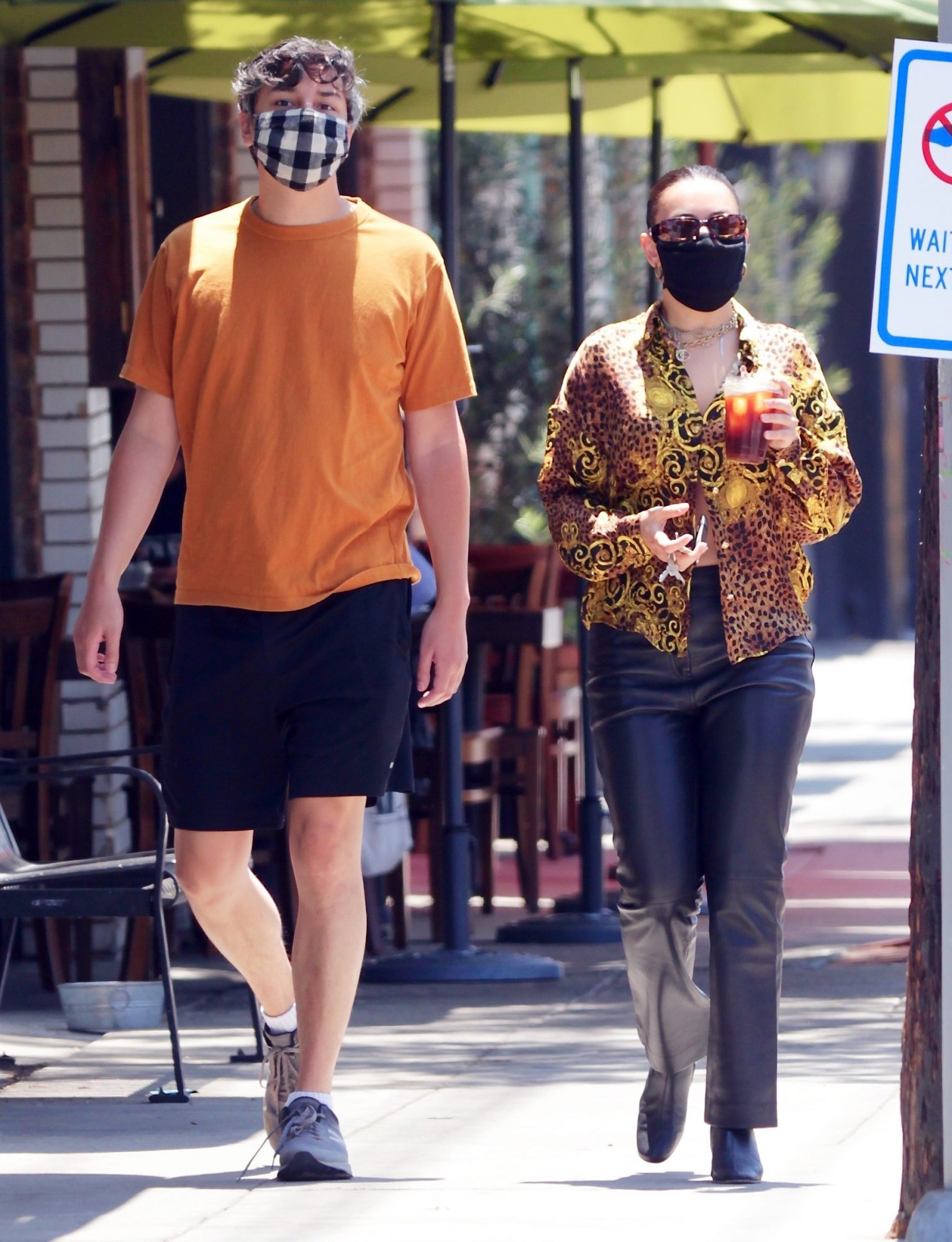 Singer Charlie XCX steps out with her boyfriend to grab an iced coffee in Los Feliz