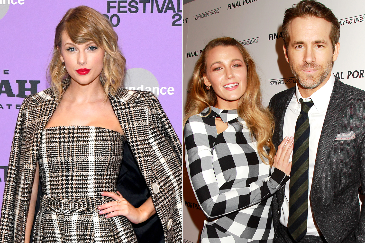 Taylor Swift; Blake Lively and Ryan Reynolds