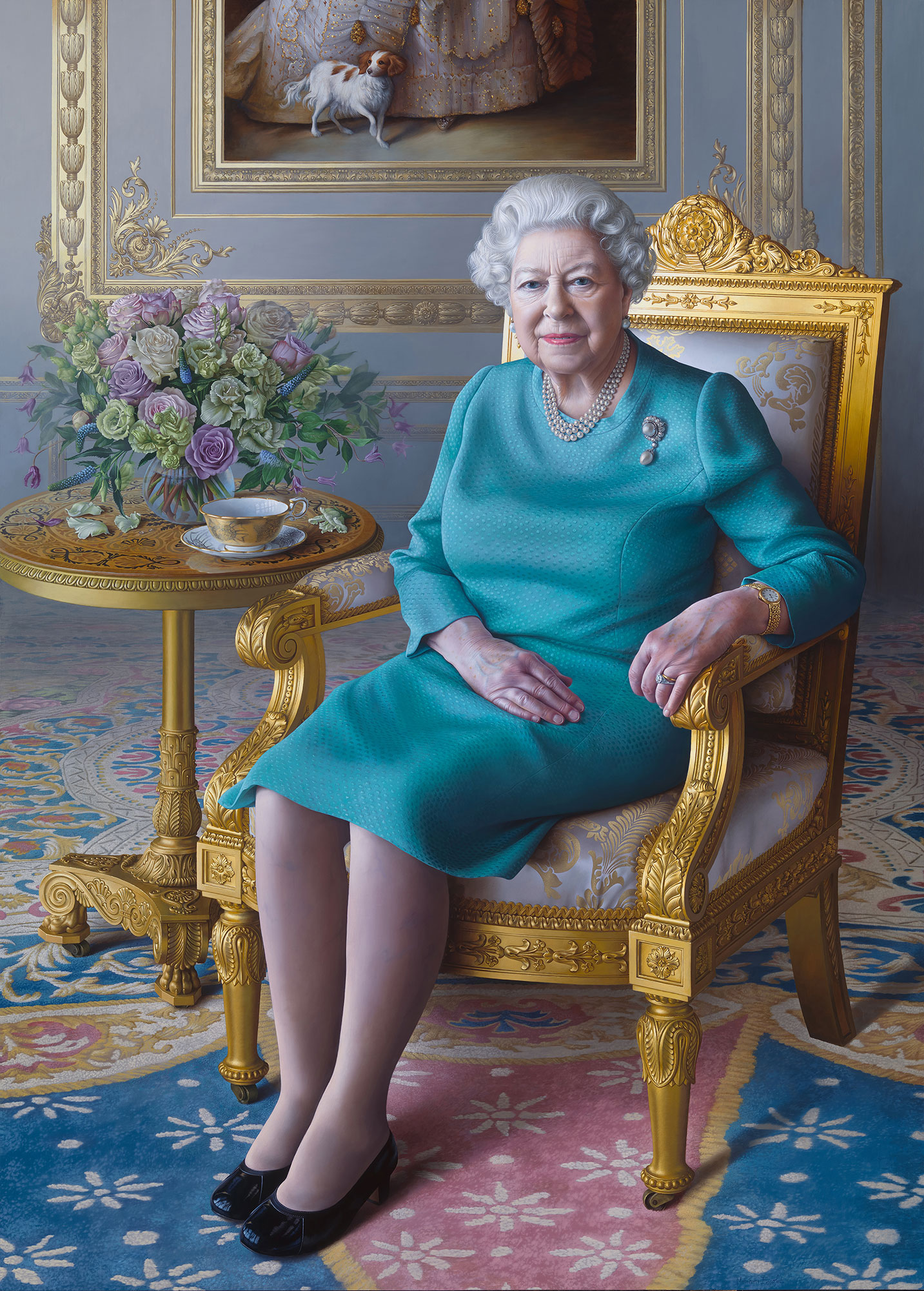 EMBARGOED UNTIL 5 PM Queen Elizabeth