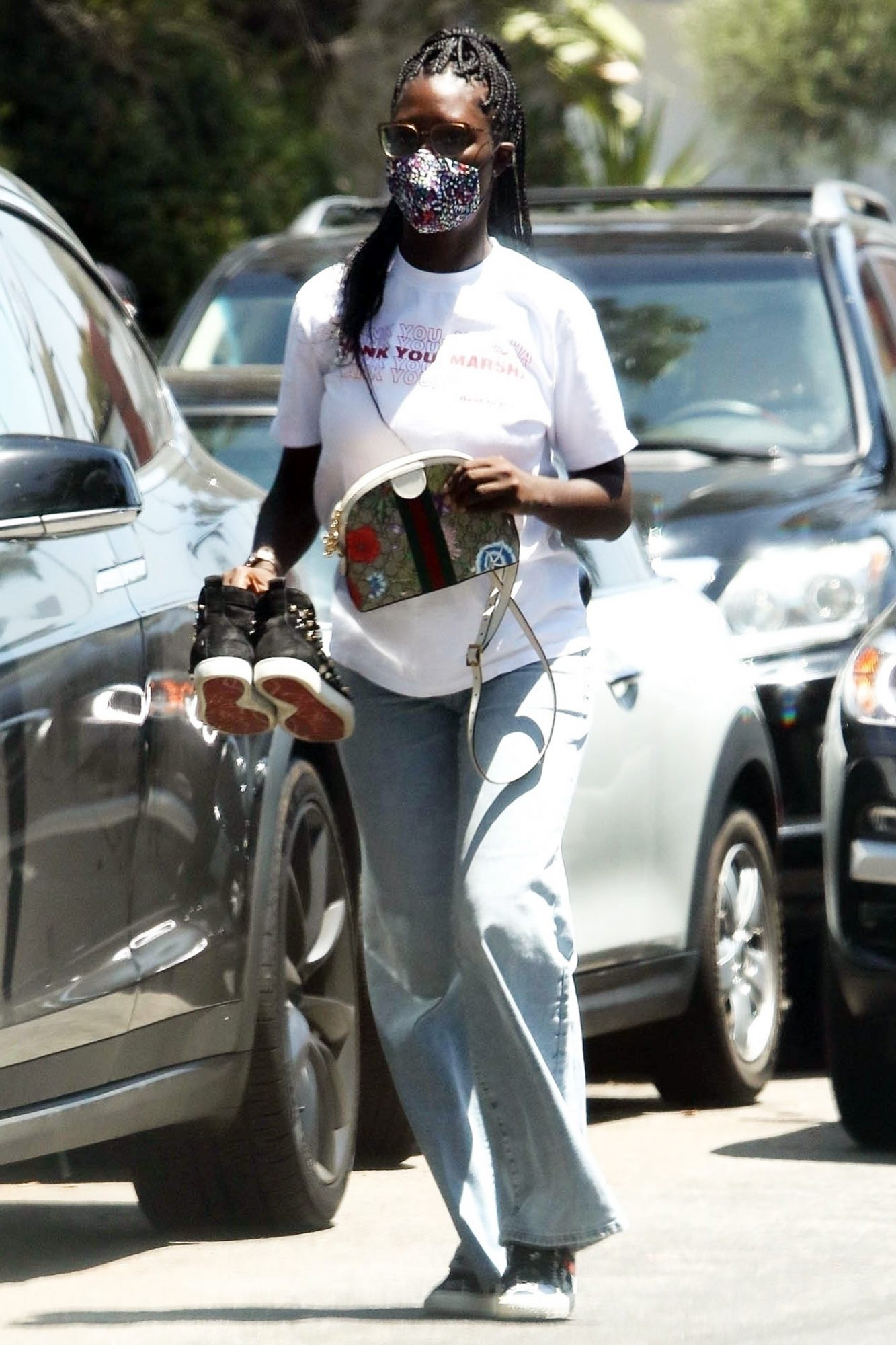 Jodie Turner-Smith keeps it casual while running errands in LA