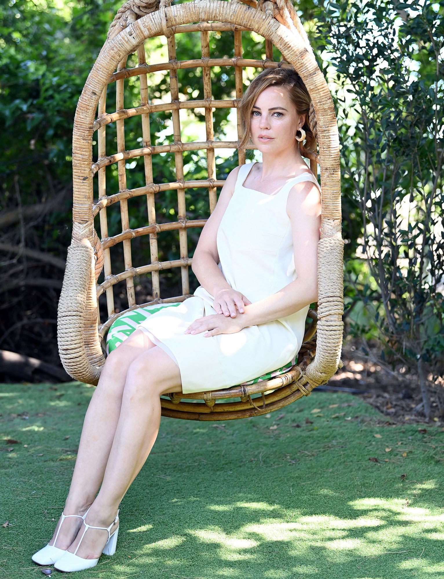 Melissa George attends Filming Italy Sardegna Festival 2020 Day 5 Press Conference at Forte Village Resort on July 26, 2020 in Santa Margherita di Pula, Italy