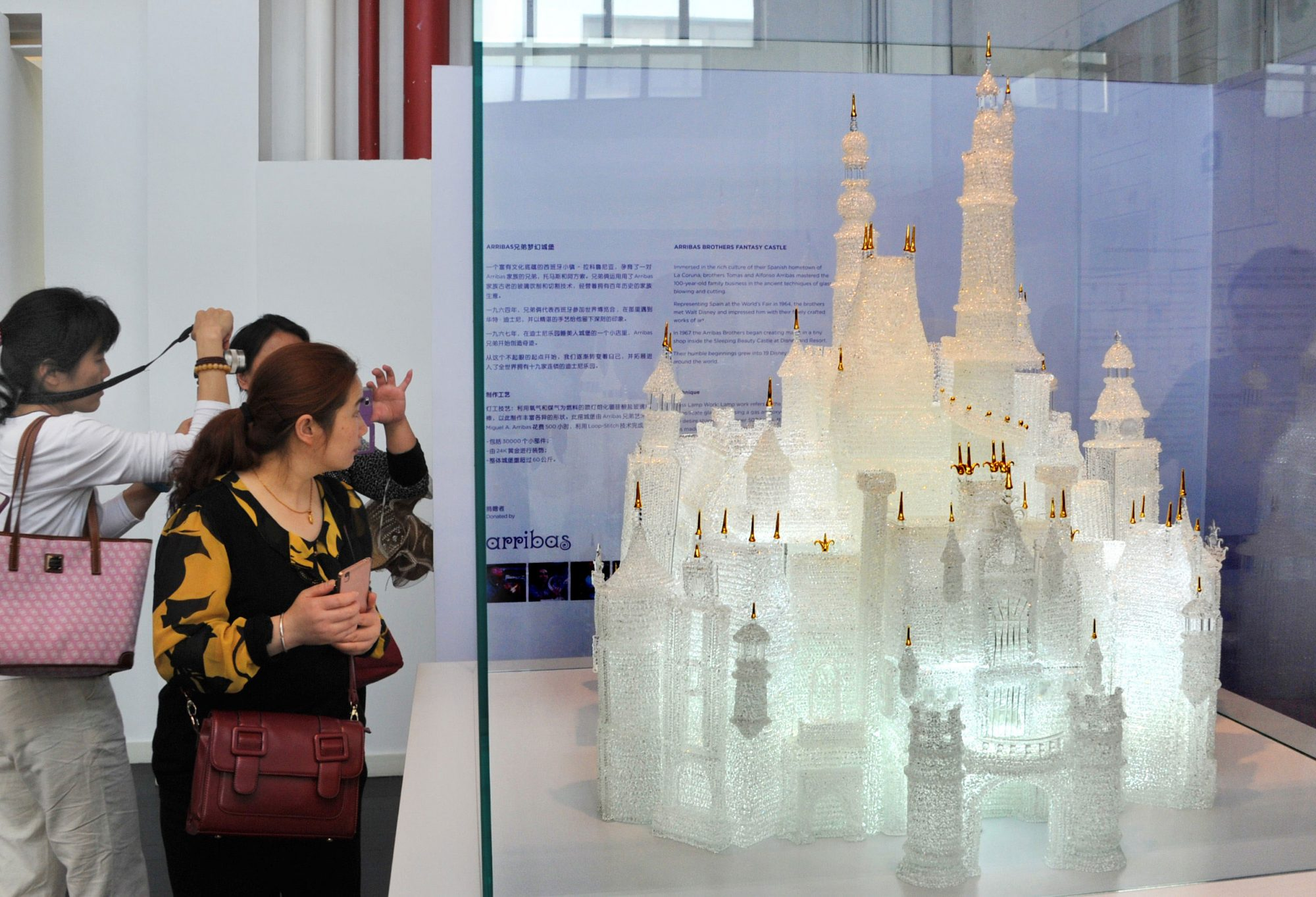 glass sculpture of Disney castle at Shanghai Museum of Glass
