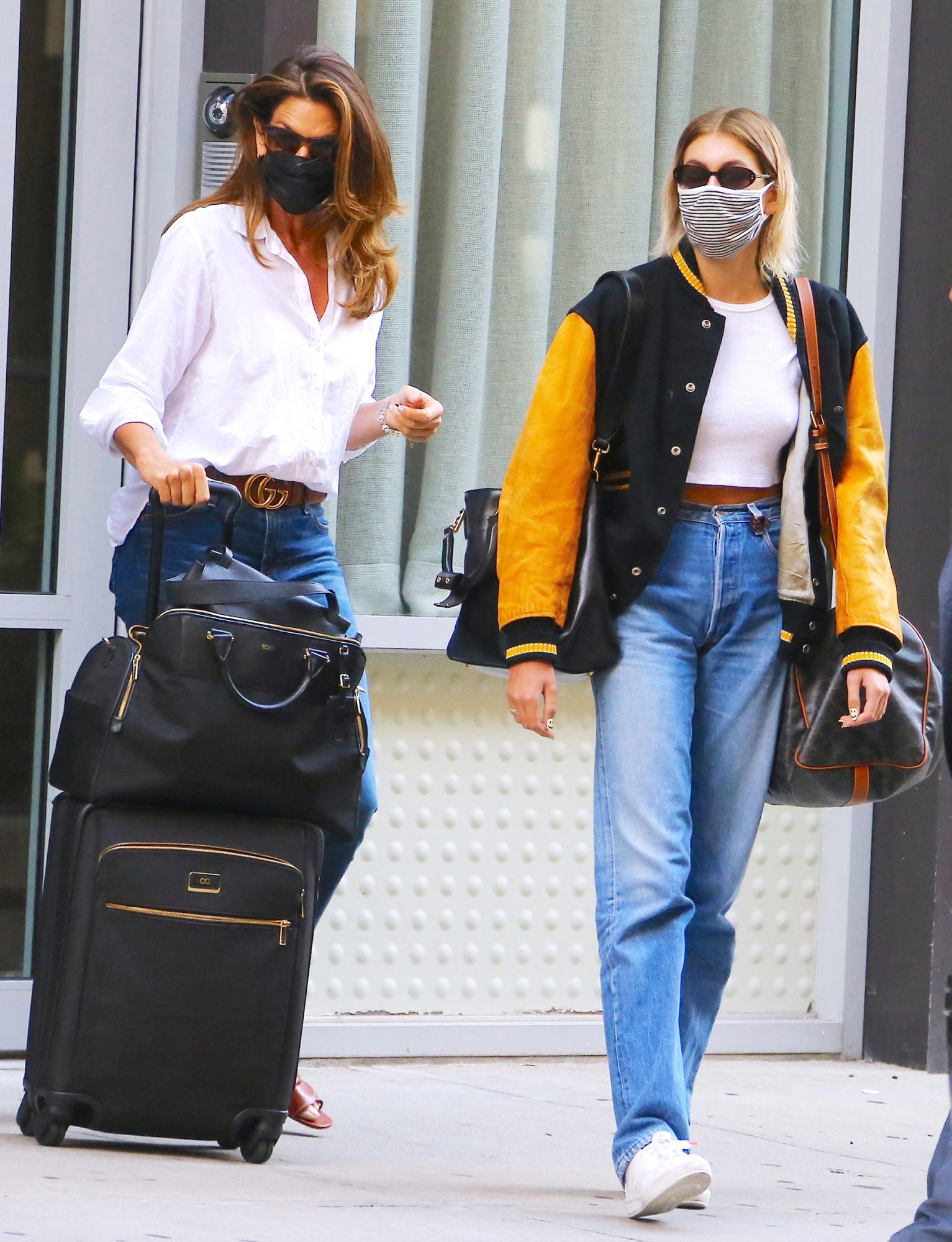 Kaia Gerber And Cindy Crawford Out In New York