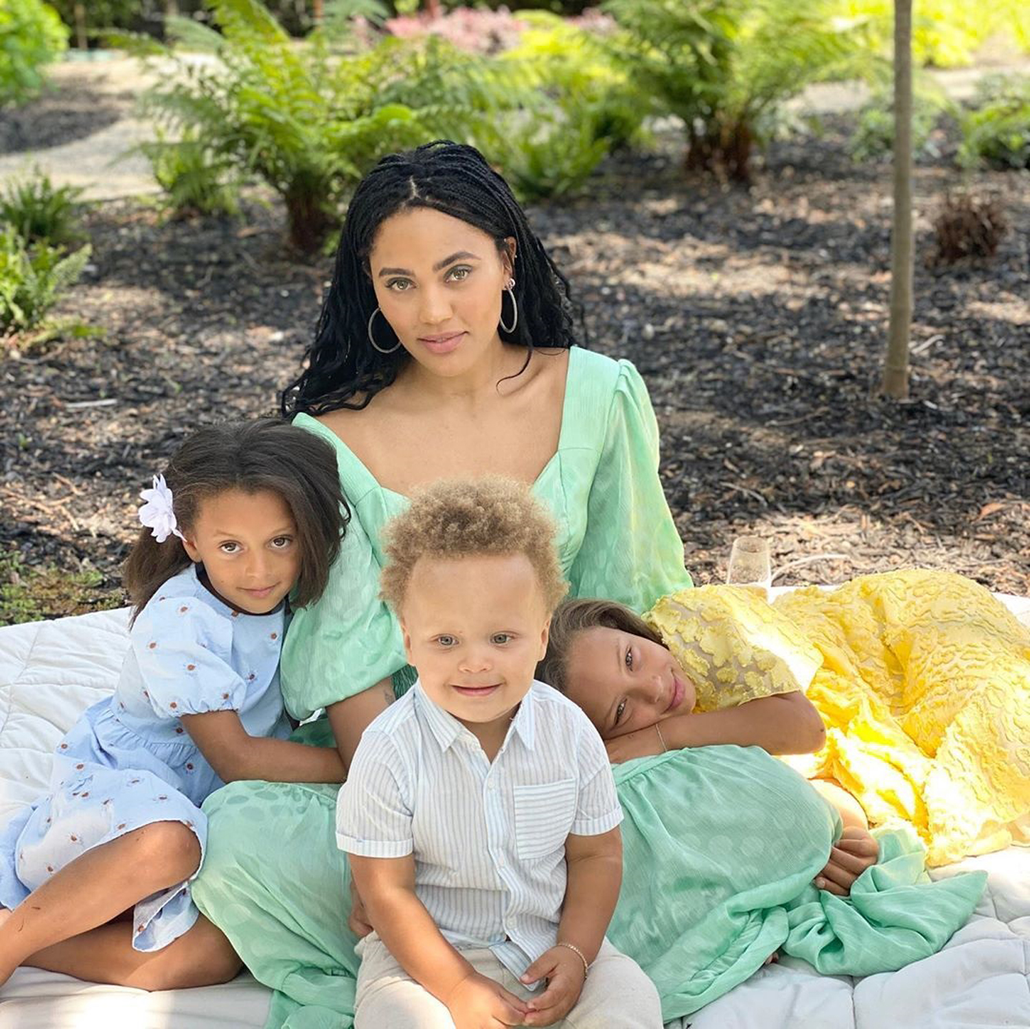 Ayesha Curry and her children