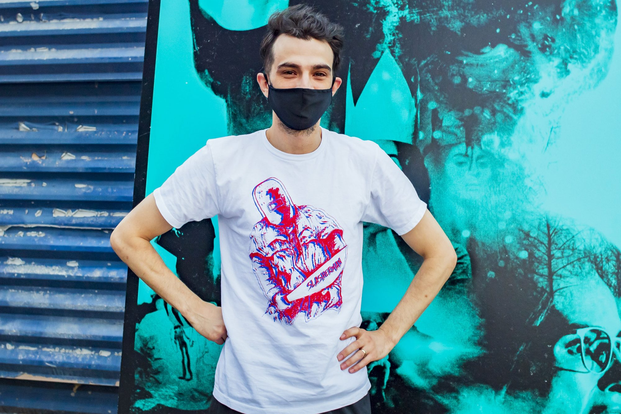 """Jay Baruchel attends the Canadian Premiere of """"Random Acts Of Violence"""" held at The 5 Drive-In on July 29, 2020 in Oakville, Canada"""