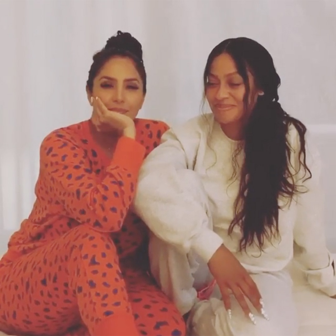 Vanessa Bryant Smiles with Friend La La Anthony as They Try Not to React to Throwback Hits in TikTok Challenge