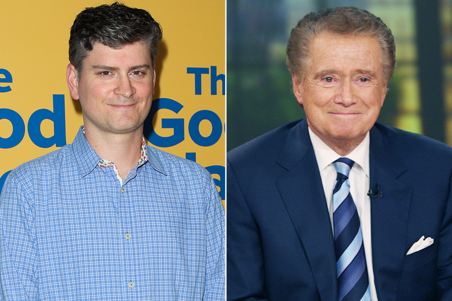 Michael Schur and Regis Philbin