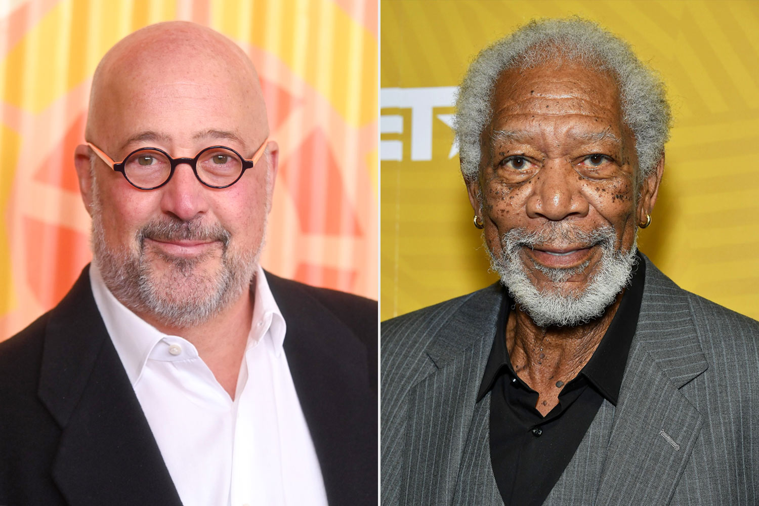 Andrew Zimmern and Morgan Freeman