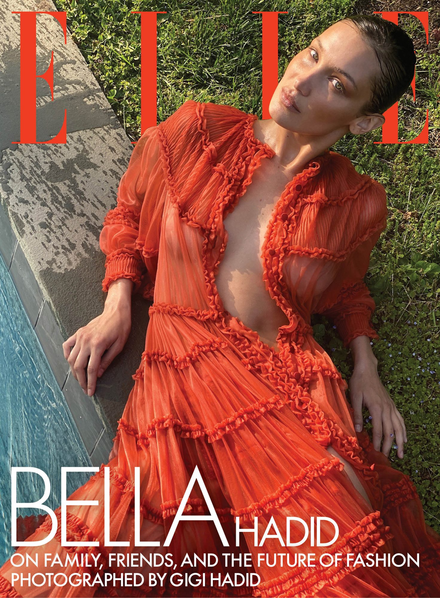 Bella Hadid on the cover of Elle