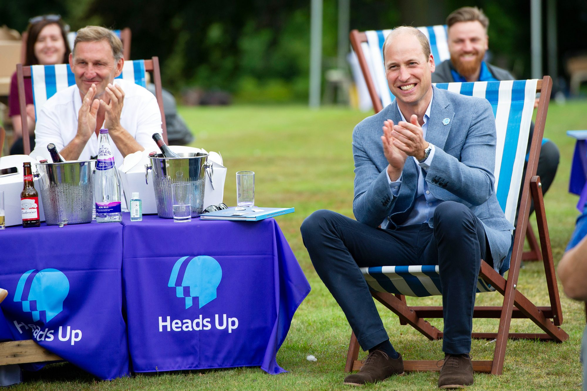 Prince Prince William hosts an outdoor screening of the Heads Up FA Cup final on the Sandringham Estate, UK - 01 Aug 2020