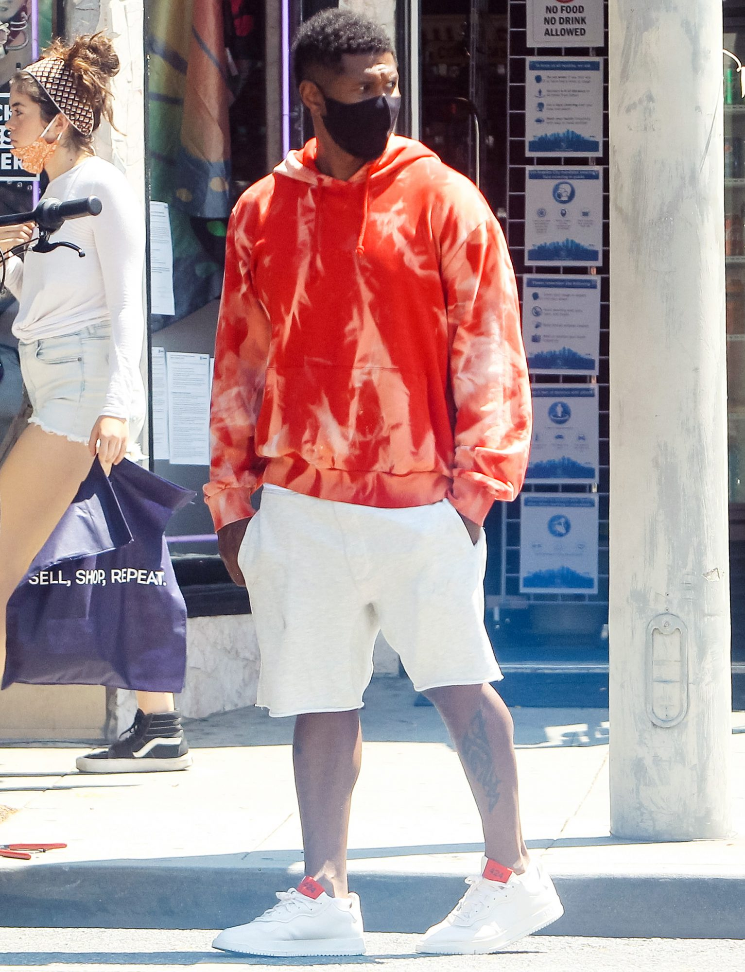 Usher is seen on August 02, 2020 in Los Angeles