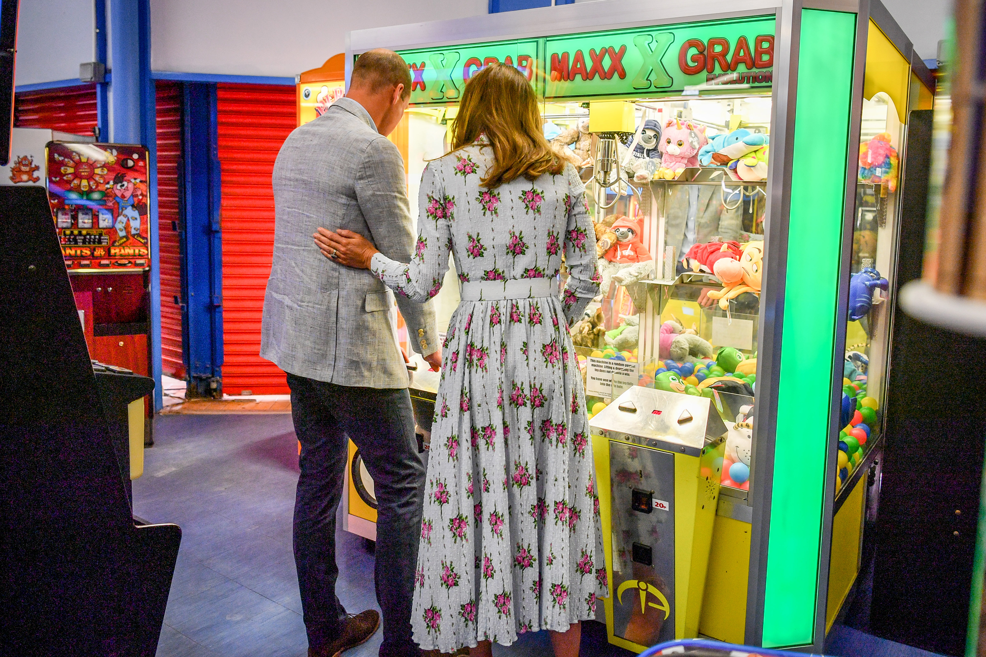 Prince William and Catherine Duchess of Cambridge visit to Barry Island