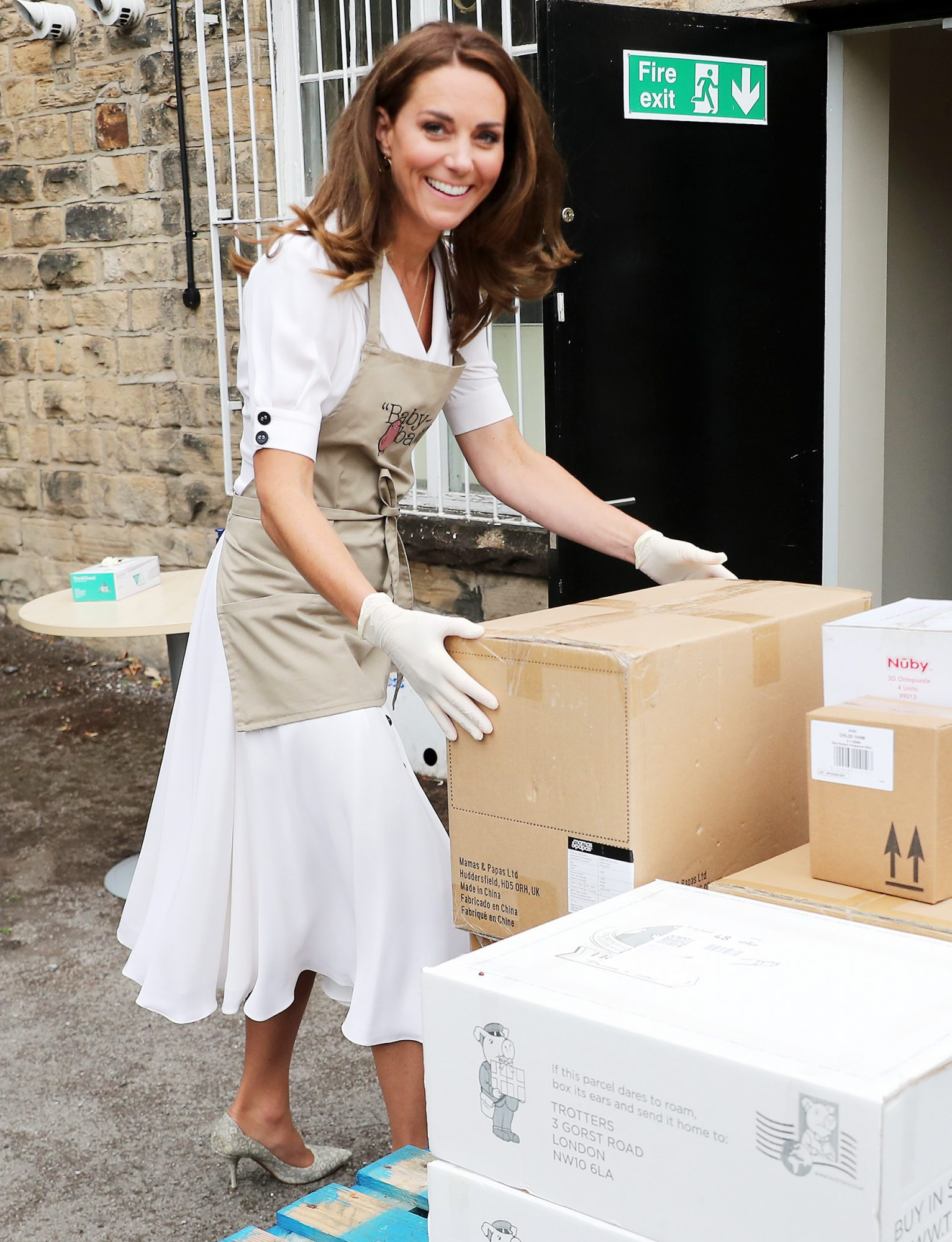 Catherine The Duchess Of Cambridge Visits Baby Basics UK And Baby Basics Sheffield