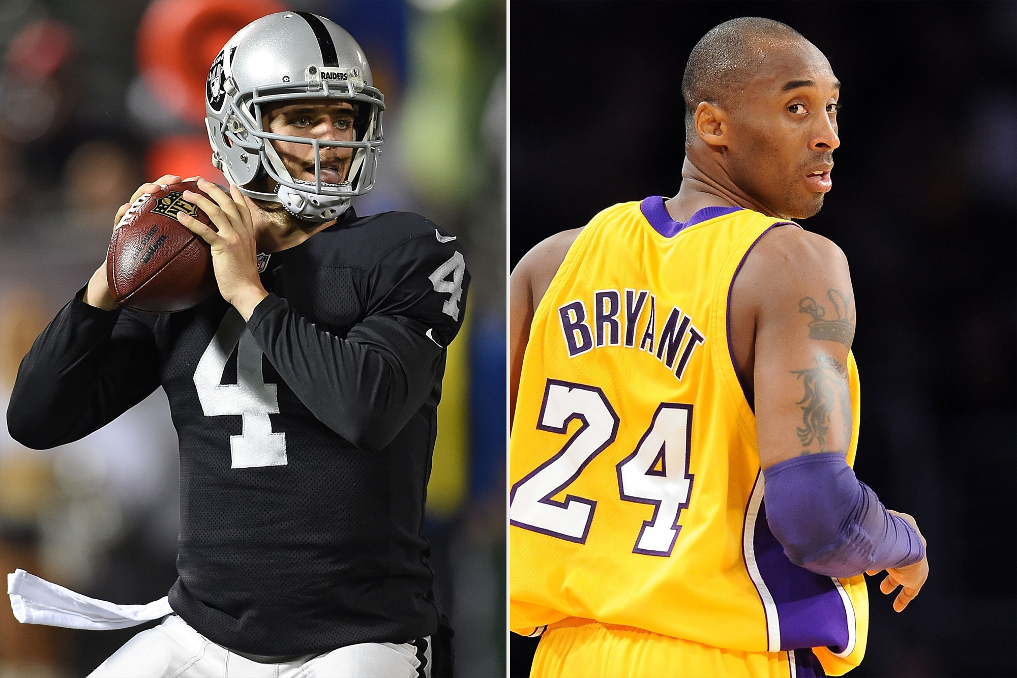 Raiders QB Derek Carr to Honor Kobe Bryant with Arm Sleeve This Season: 'He Meant So Much to Me'