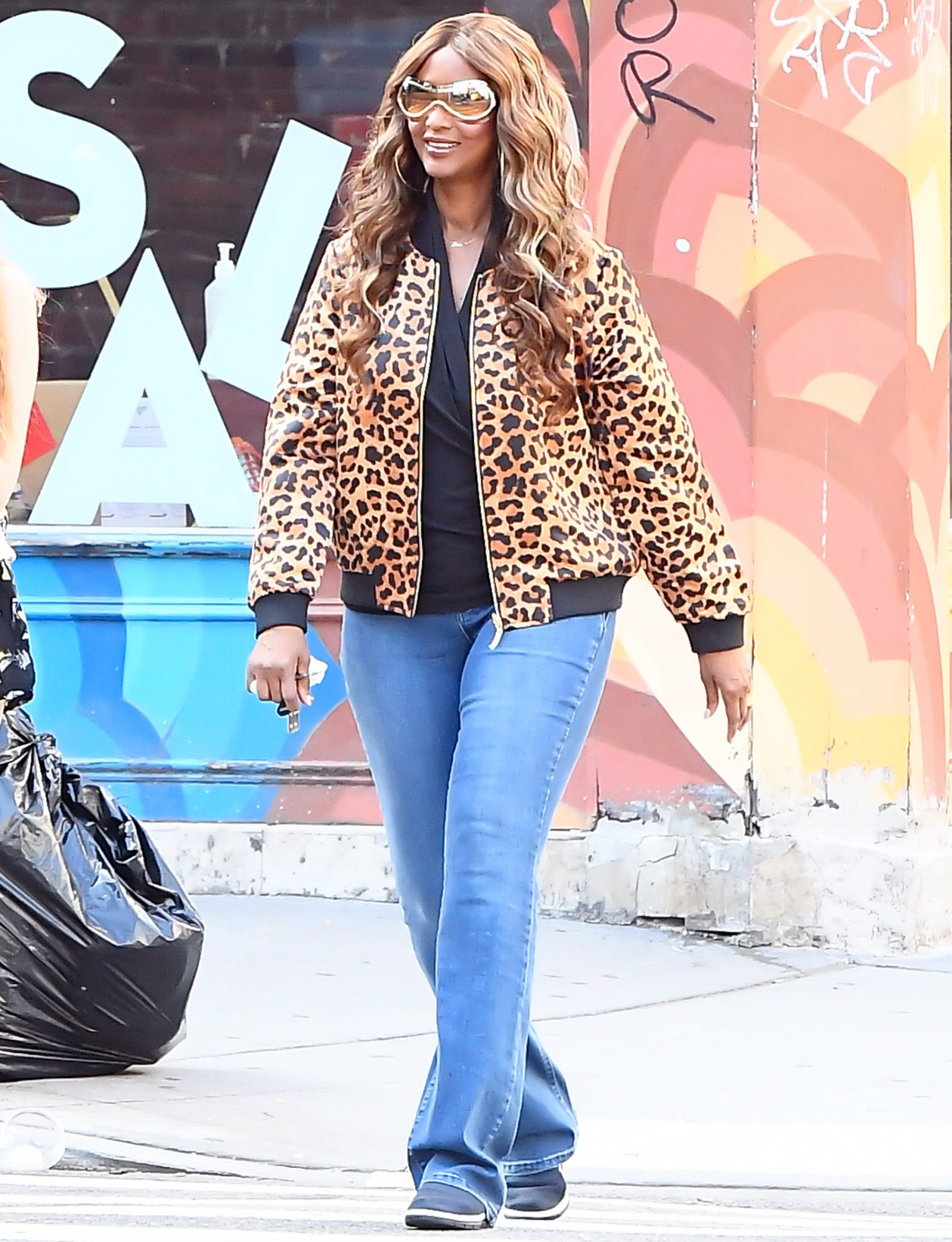 Iman is seen during a photo shoot on August 6, 2020 in New York City