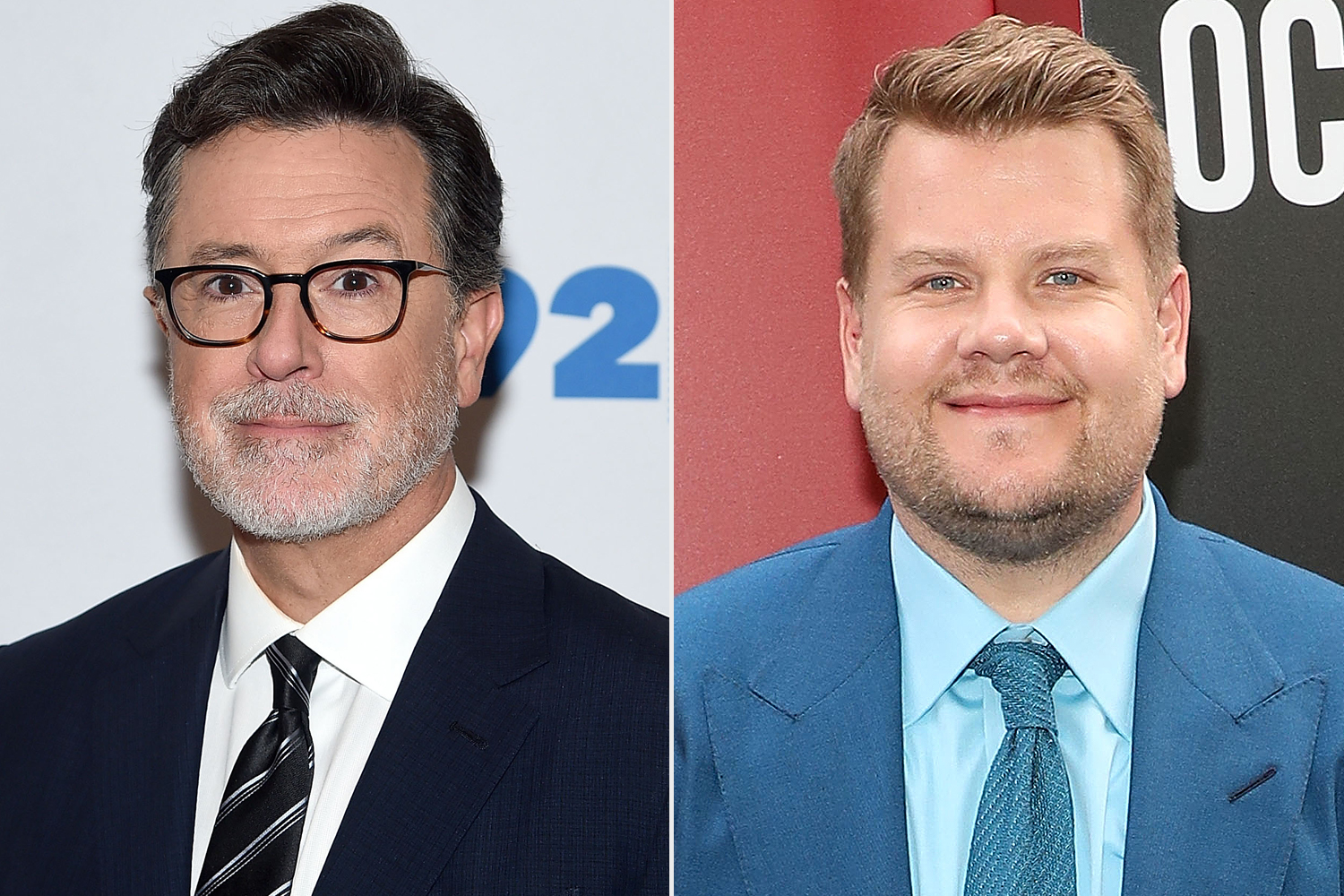 Stephen Colbert, James Corden