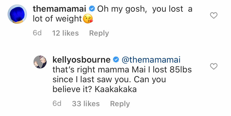 Kelly Osbourne's weight loss