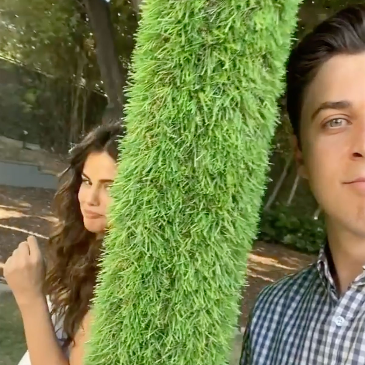 Selena Gomez and David Henrie