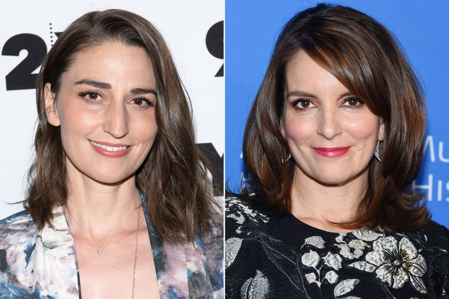 Sara Bareilles and Tina Fey