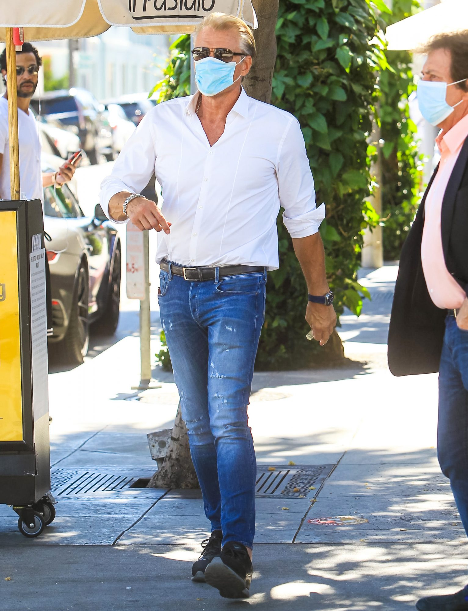 Dolph Lundgren is seen on August 10, 2020 in Los Angeles, California