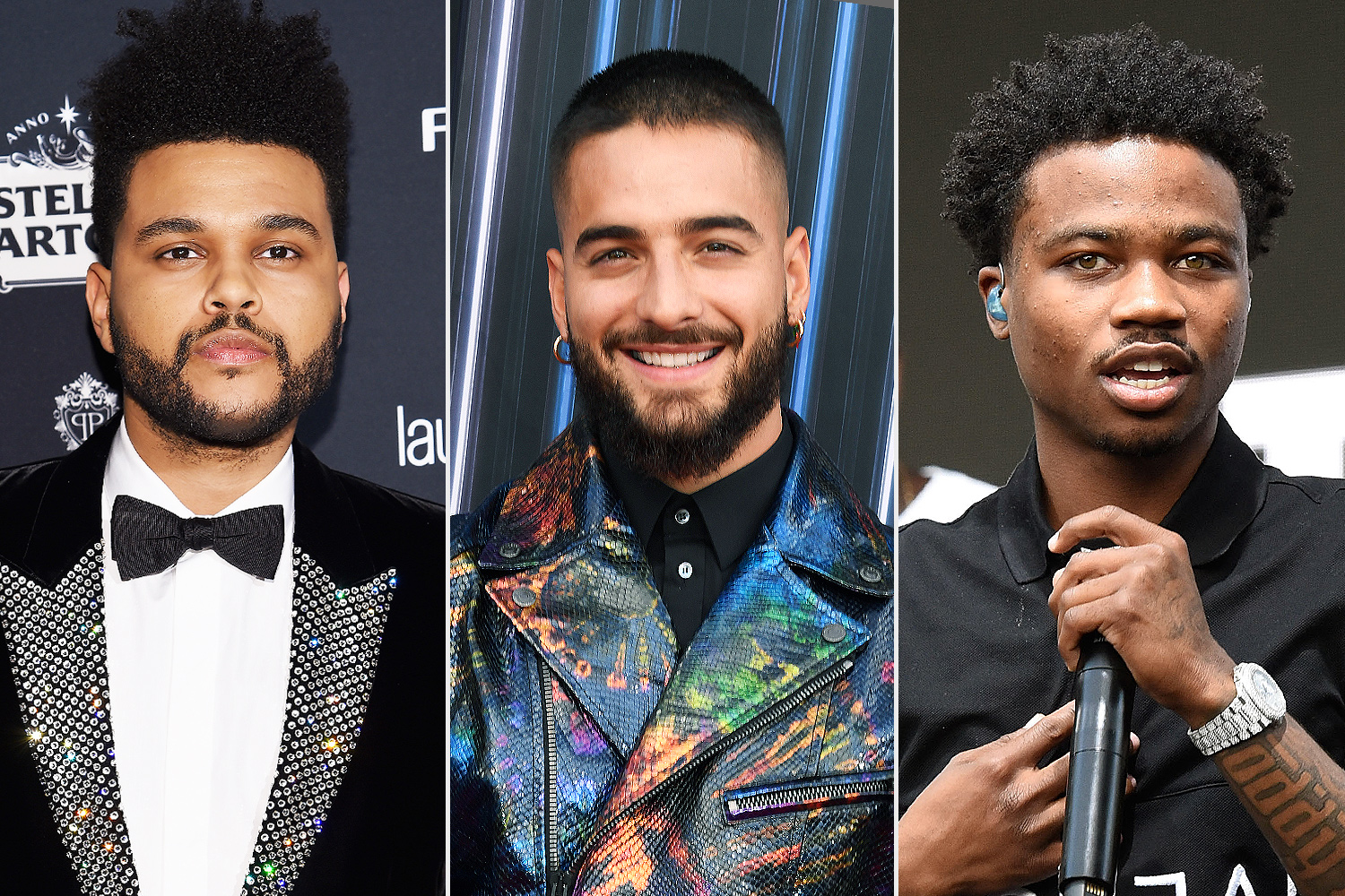 The Weeknd, Roddy Ricch, Maluma