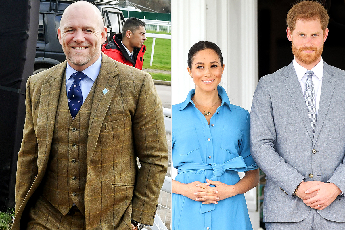 Mike Tindall, Prince Harry and Meghan Markle