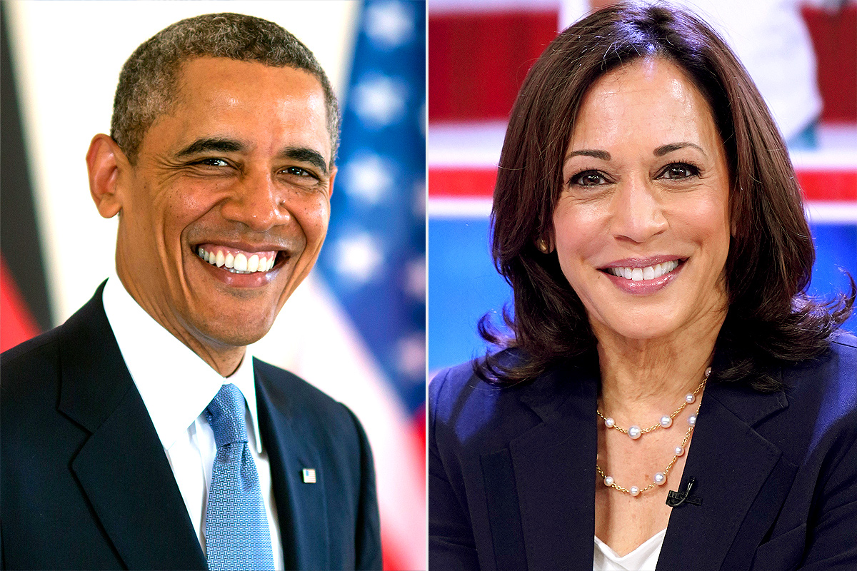 Barack Obama, Kamala Harris