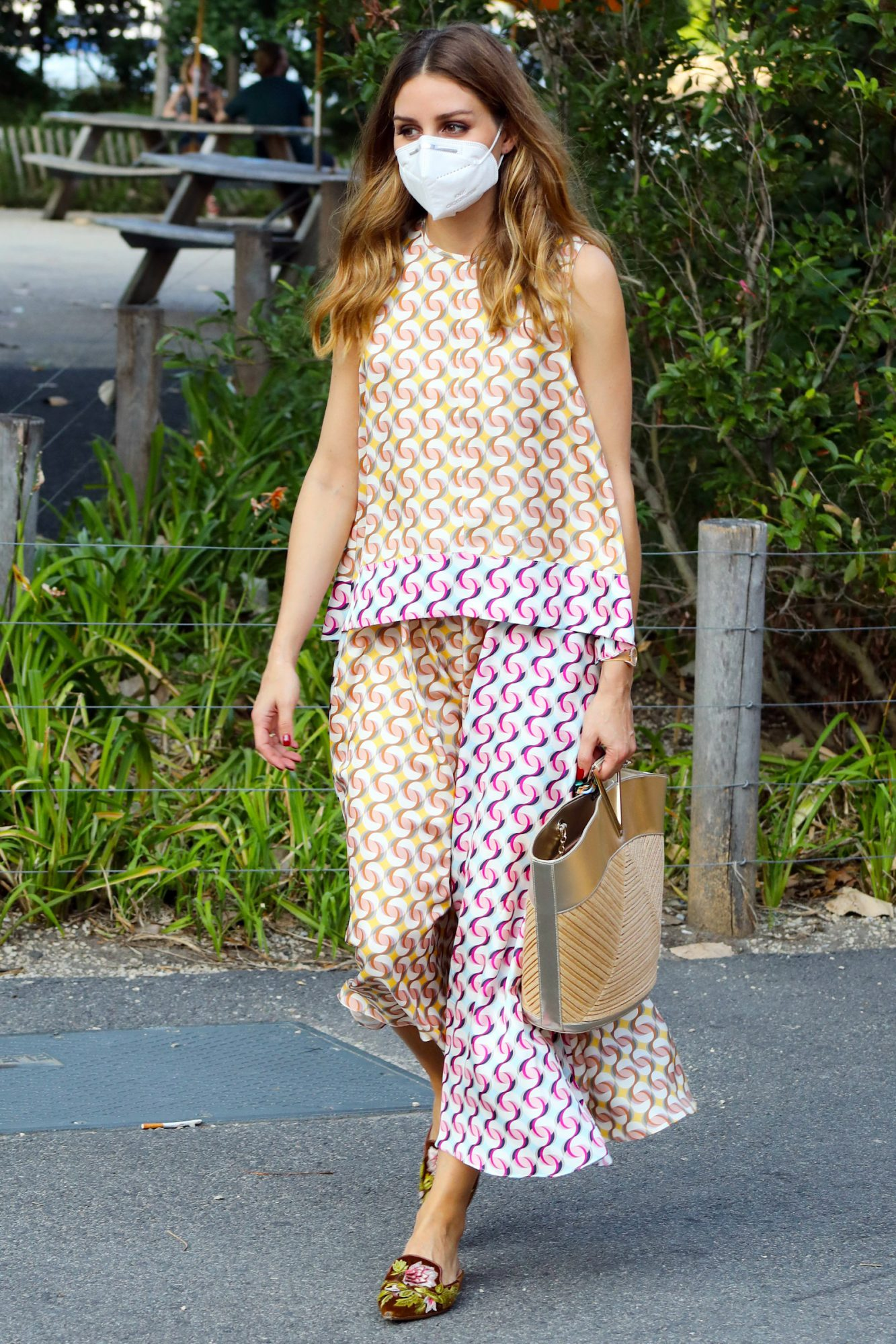 Olivia Palermo is seen on August 11, 2020 in New York City