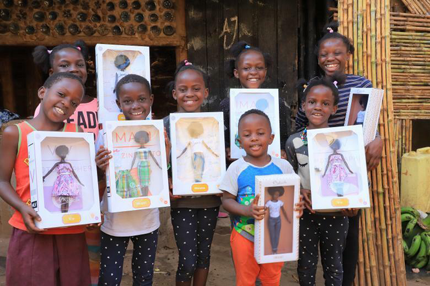 Texas Woman Sends Black Dolls to Orphans in Uganda to Help Show Them 'You Can be the Center of the Story'