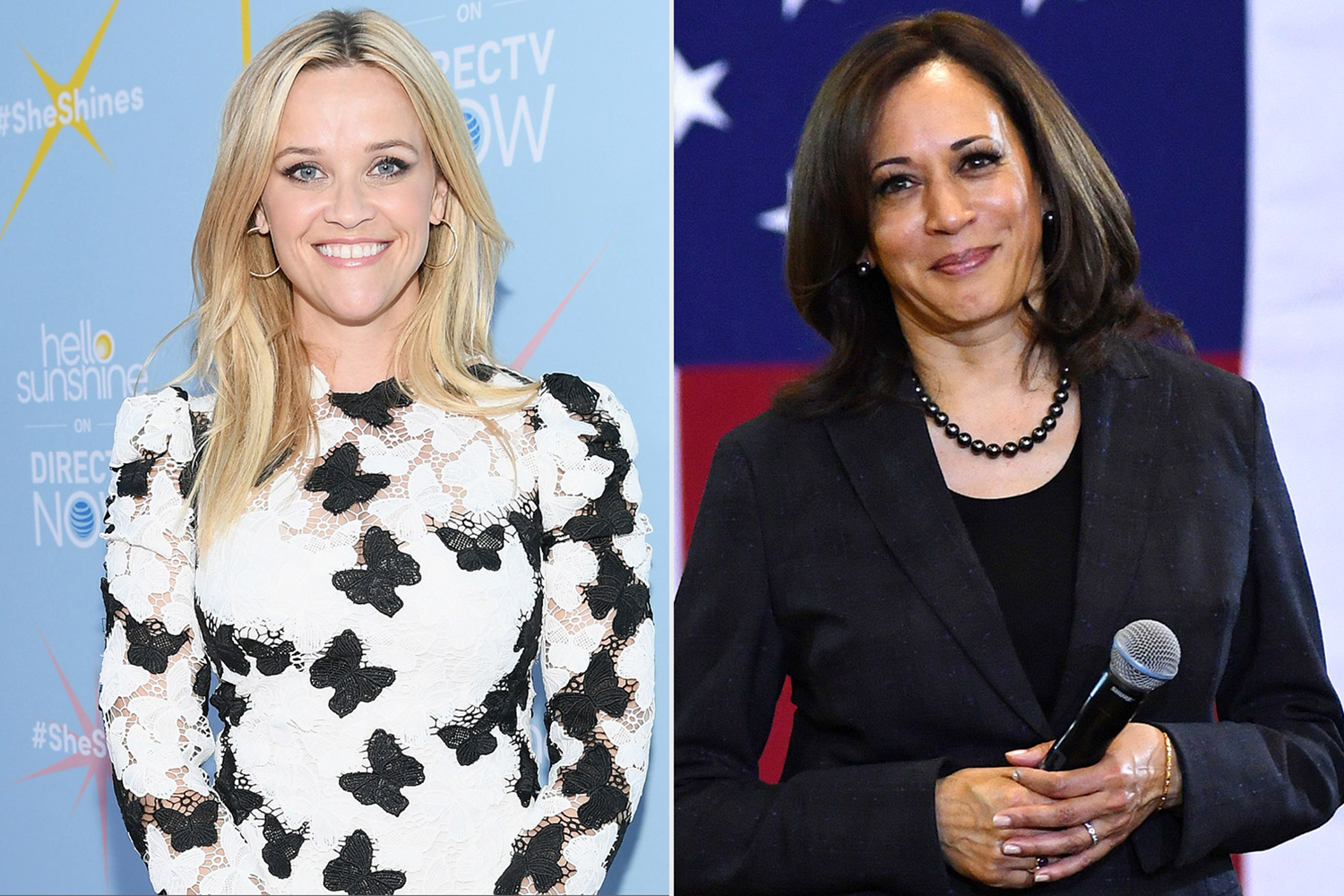 Reese Witherspoon and Kamala Harris